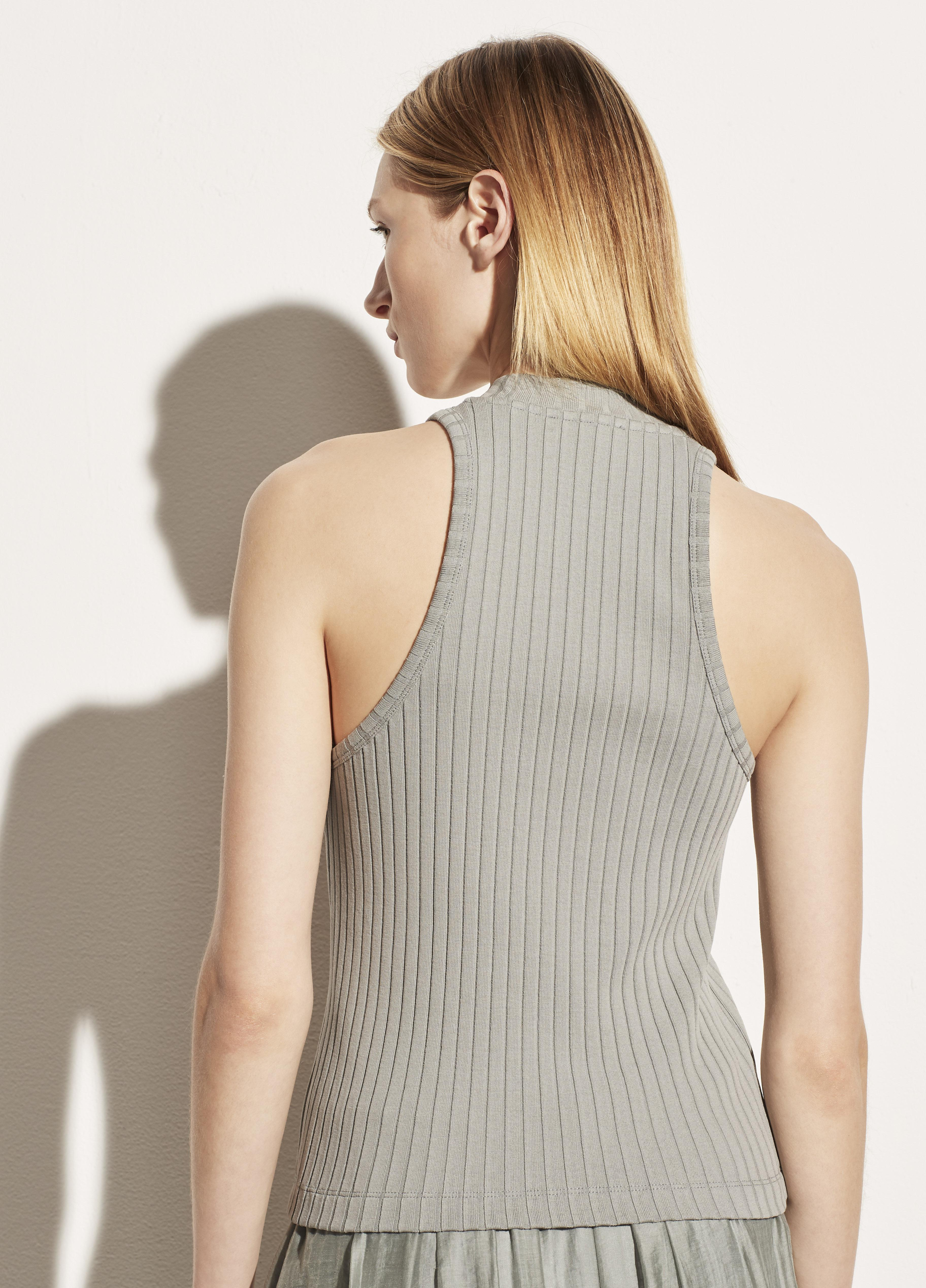 Ribbed High Neck Shell 3