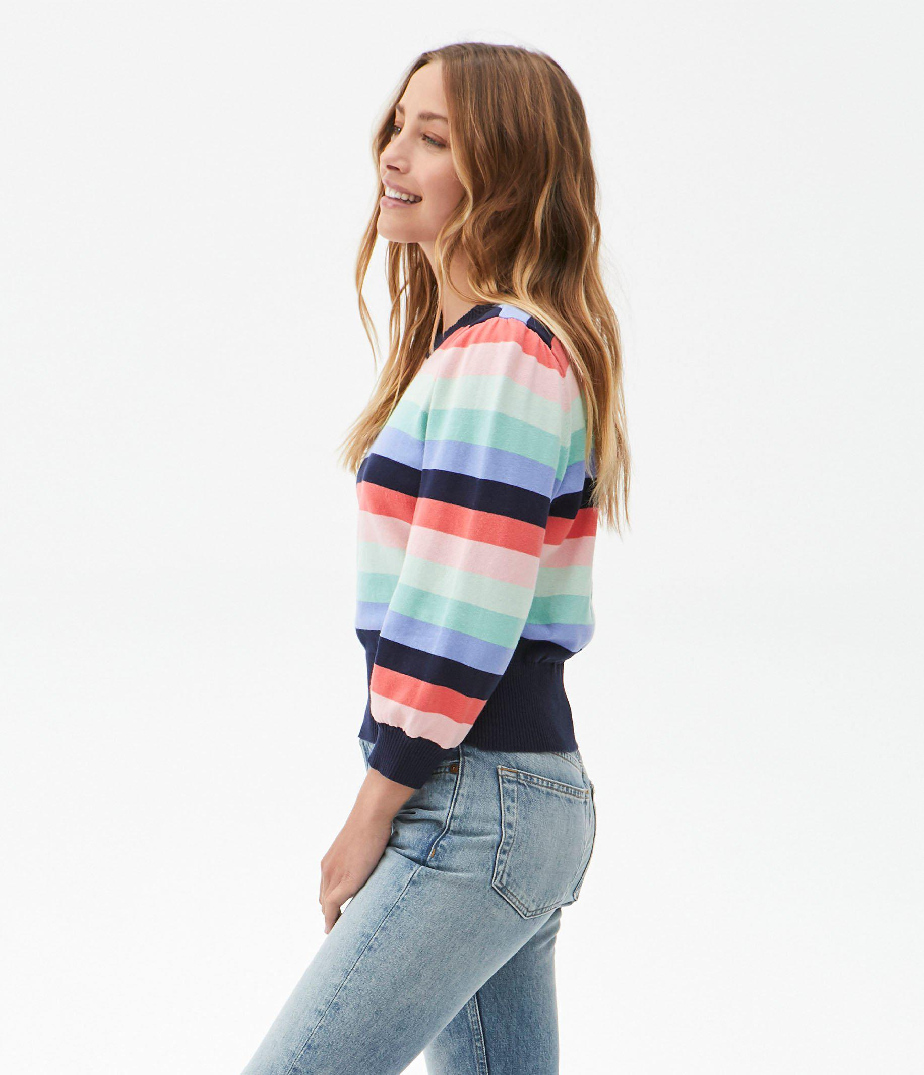 Dolly Striped Puff Sleeve Sweater 2