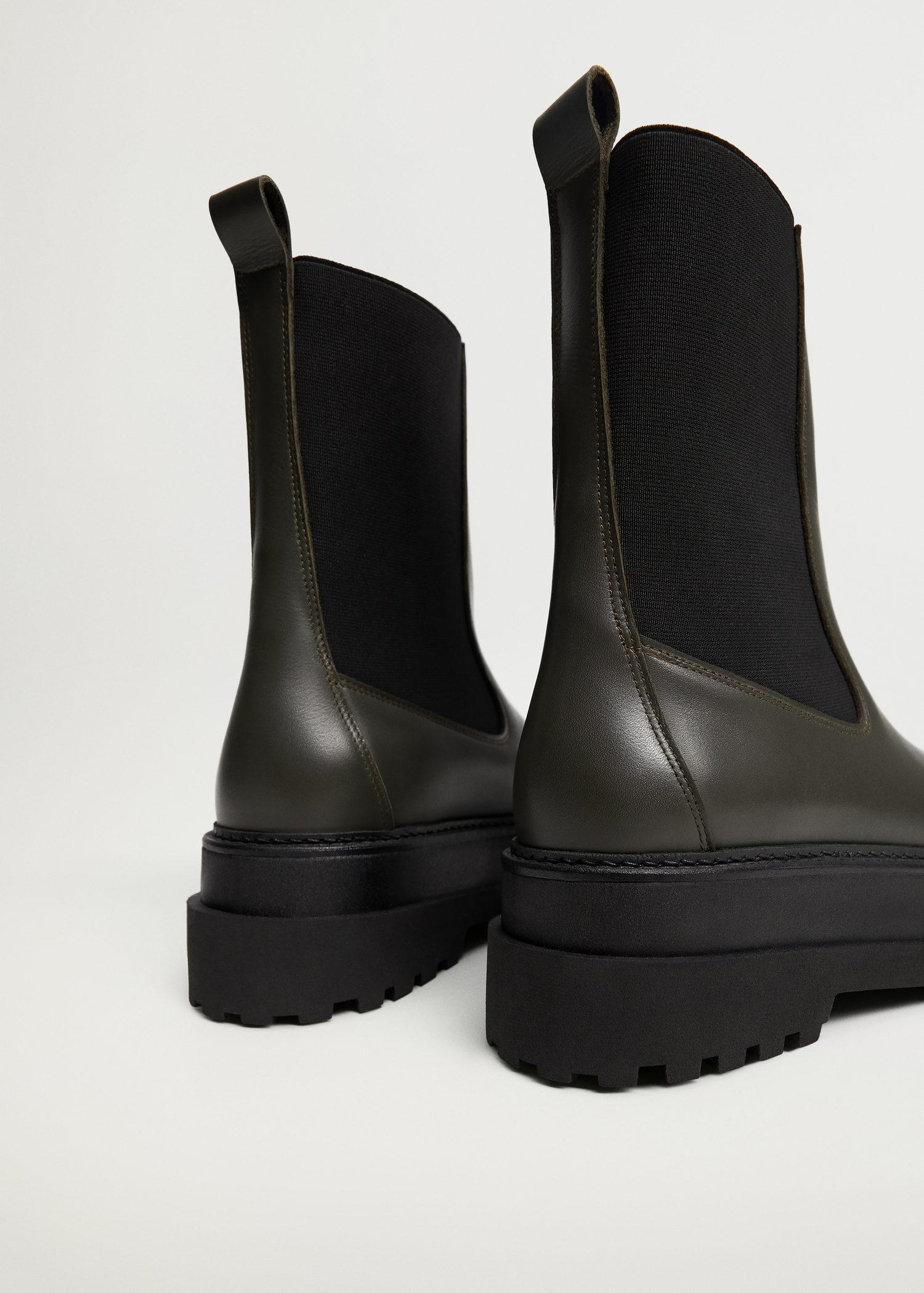 Platform leather ankle boots 2