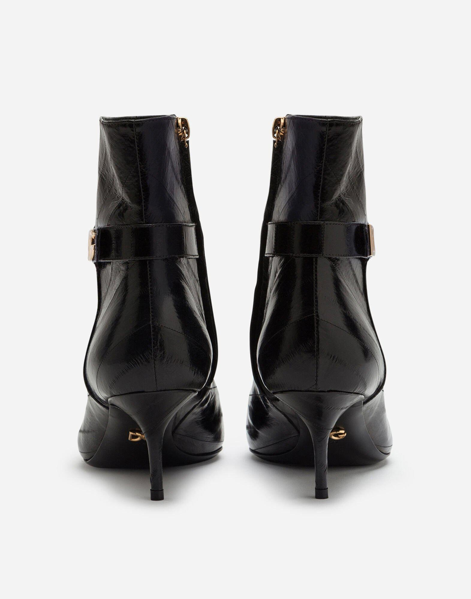 Ankle boots in eel with DG logo 2