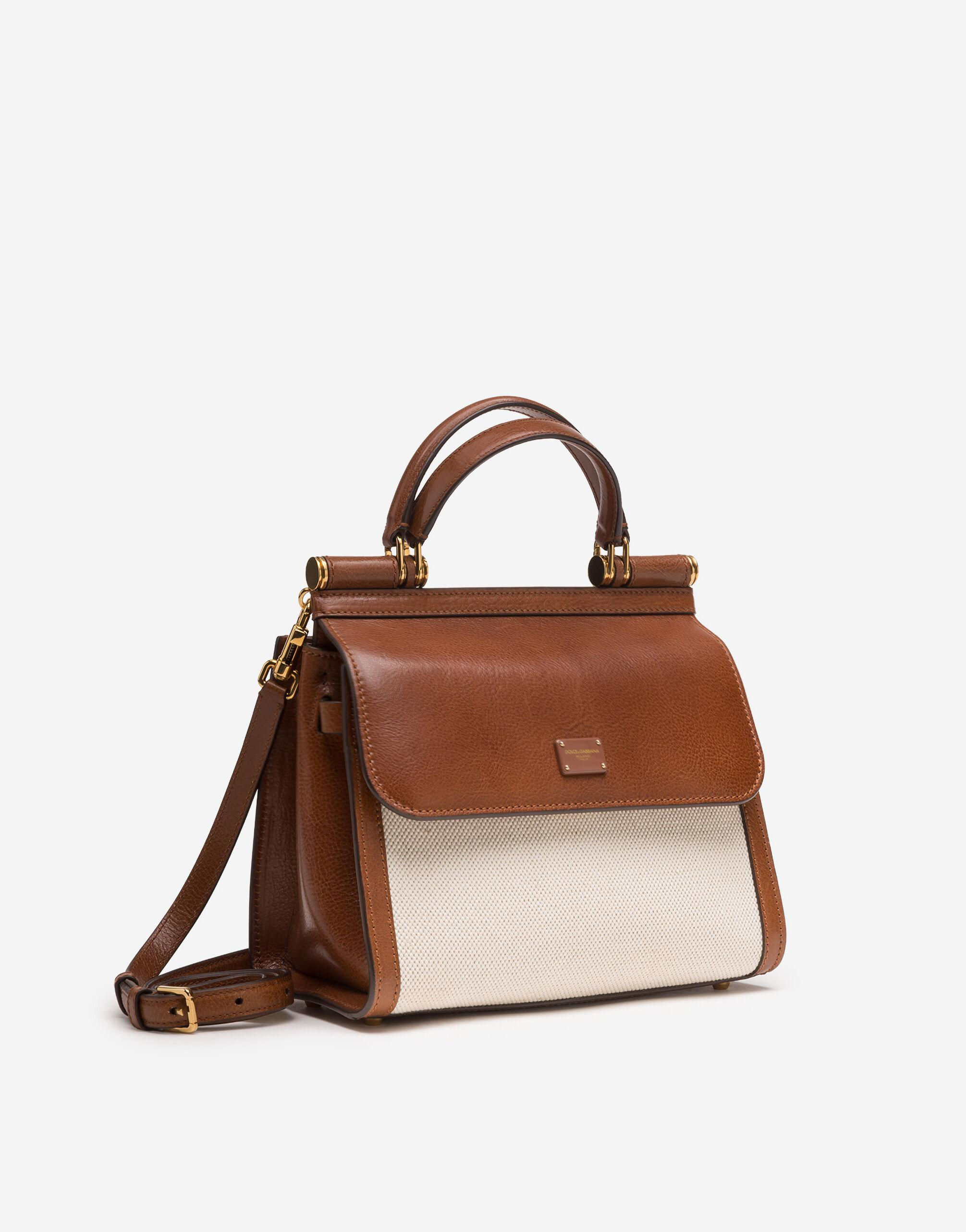 Medium Sicily 58 bag in canvas and cowhide 1
