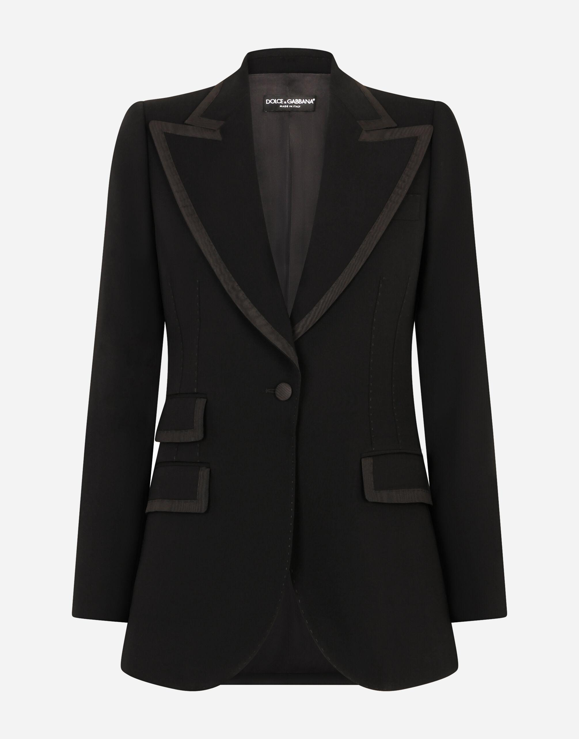 Wool jacket with piping 5
