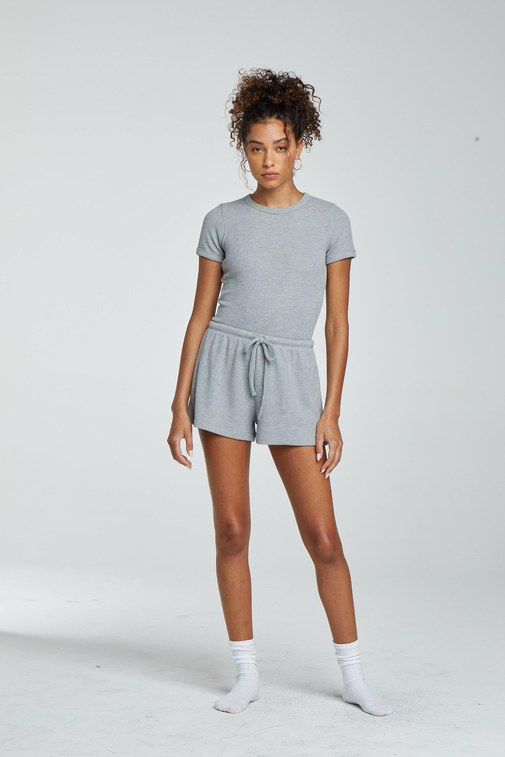 Willow Waffle Slim Fit Tee - Light Heather Grey 1
