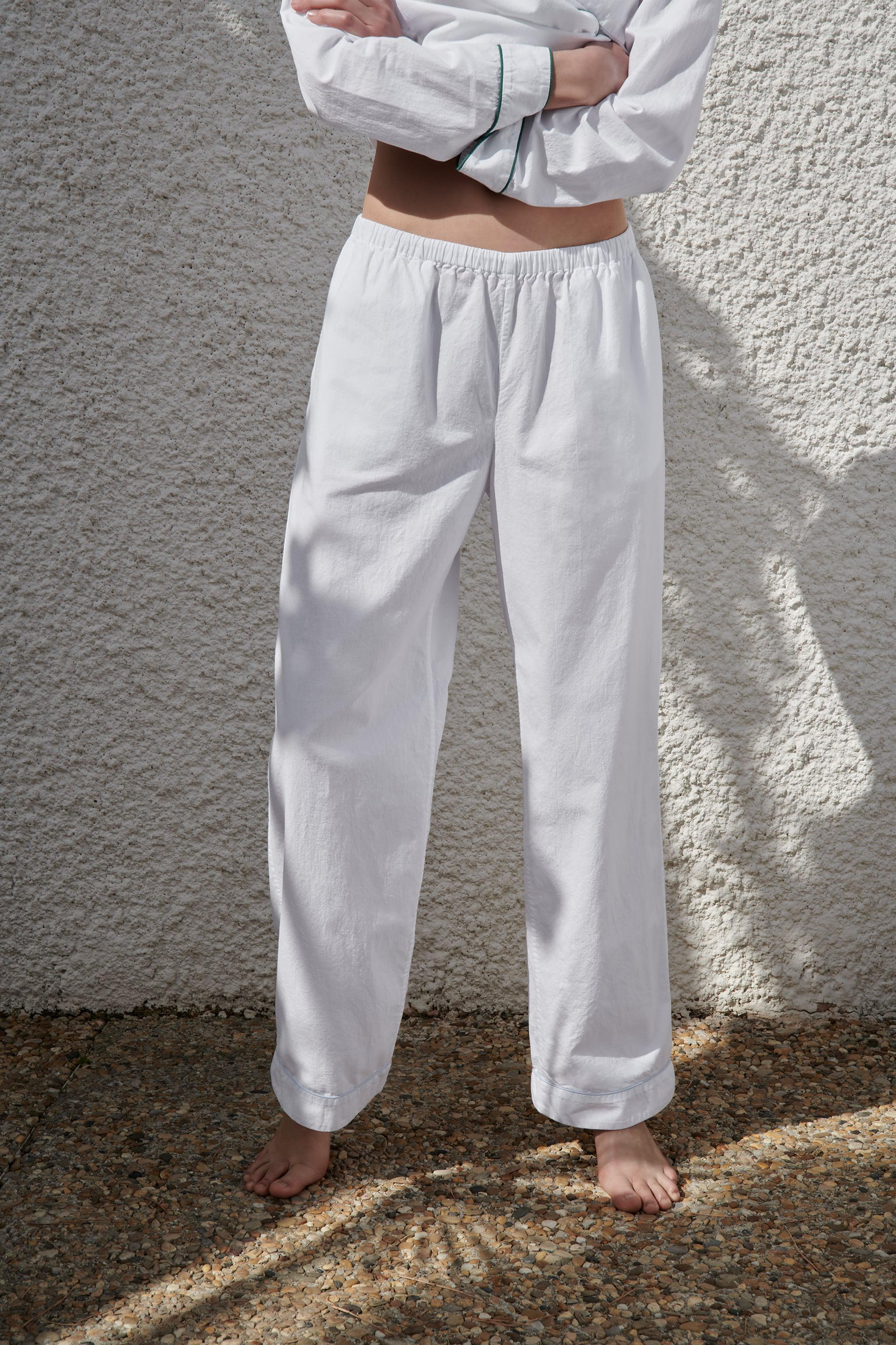 PIPED COTTON PANTS 1