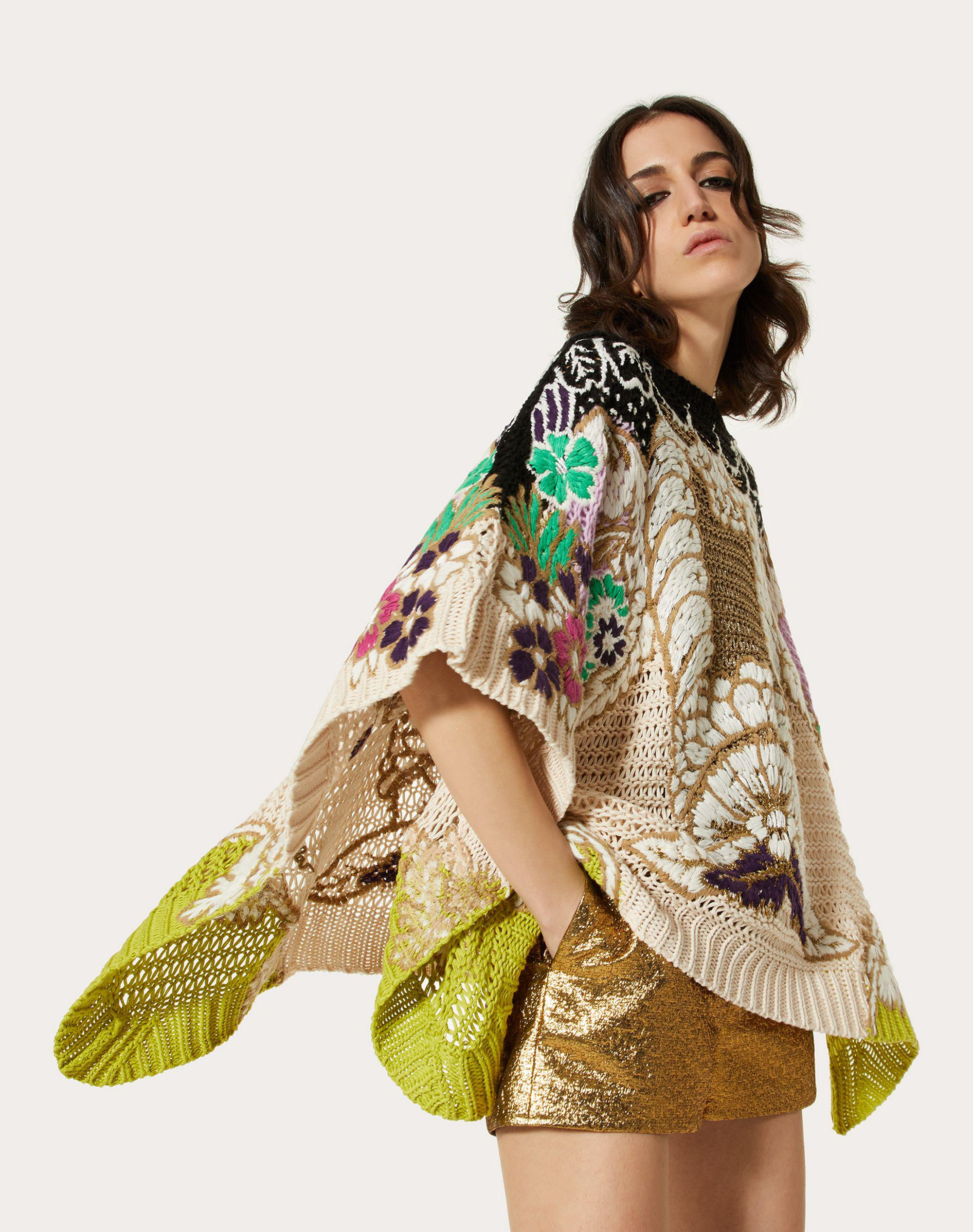 EMBROIDERED SWEATER IN COTTON LUREX WOOL 3