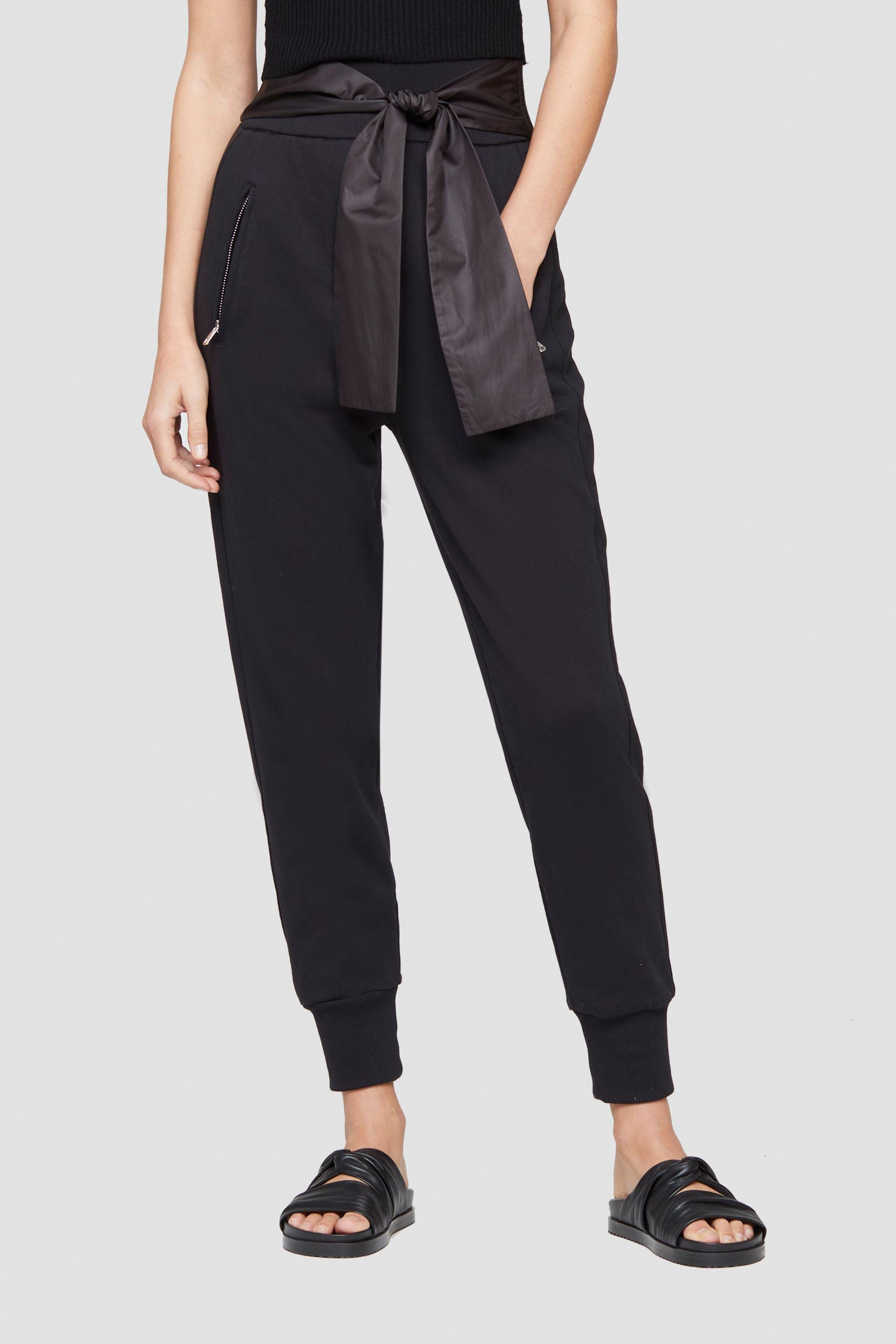 Tie Waist French Terry Jogger