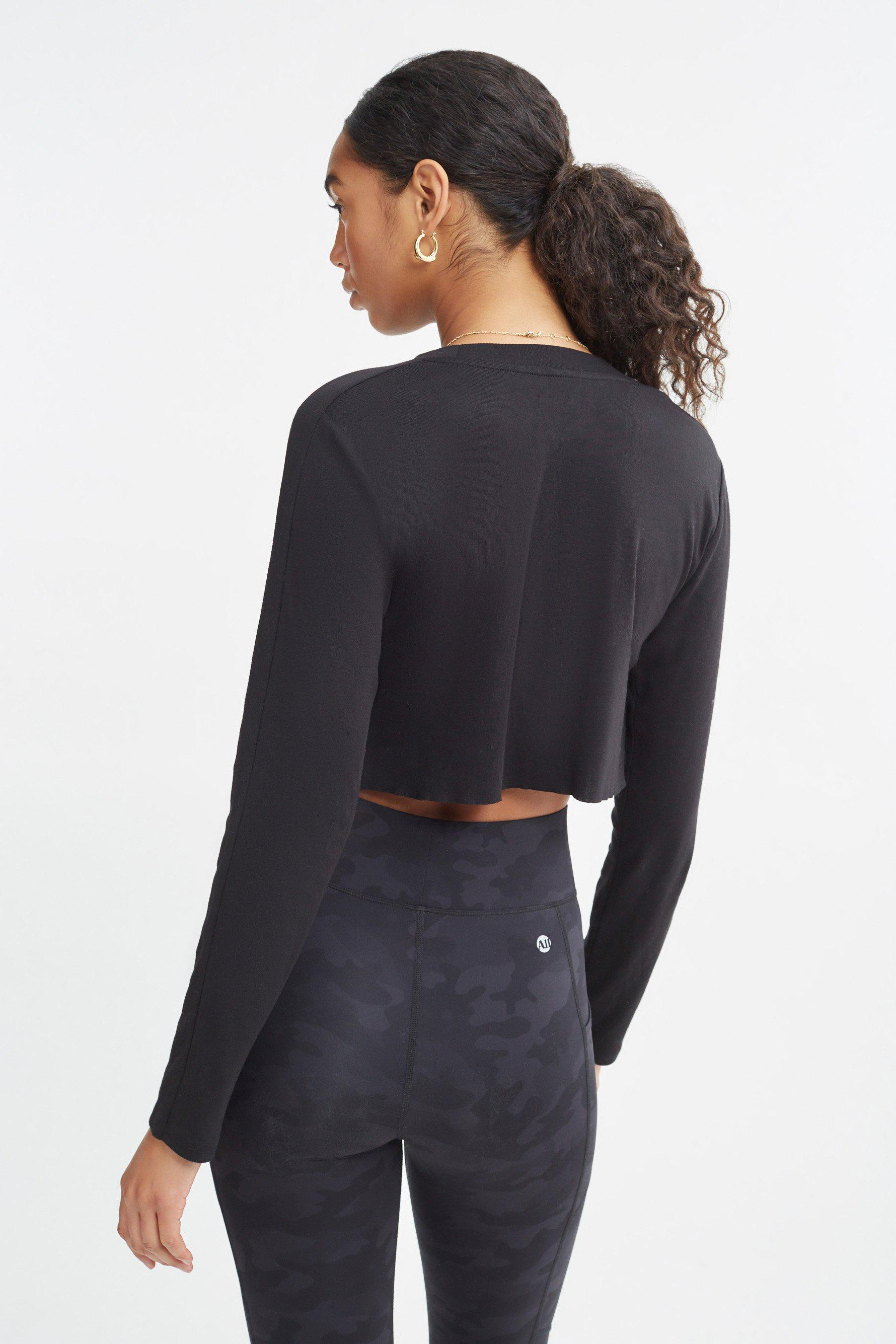 Encore Cropped Long Sleeve Top
