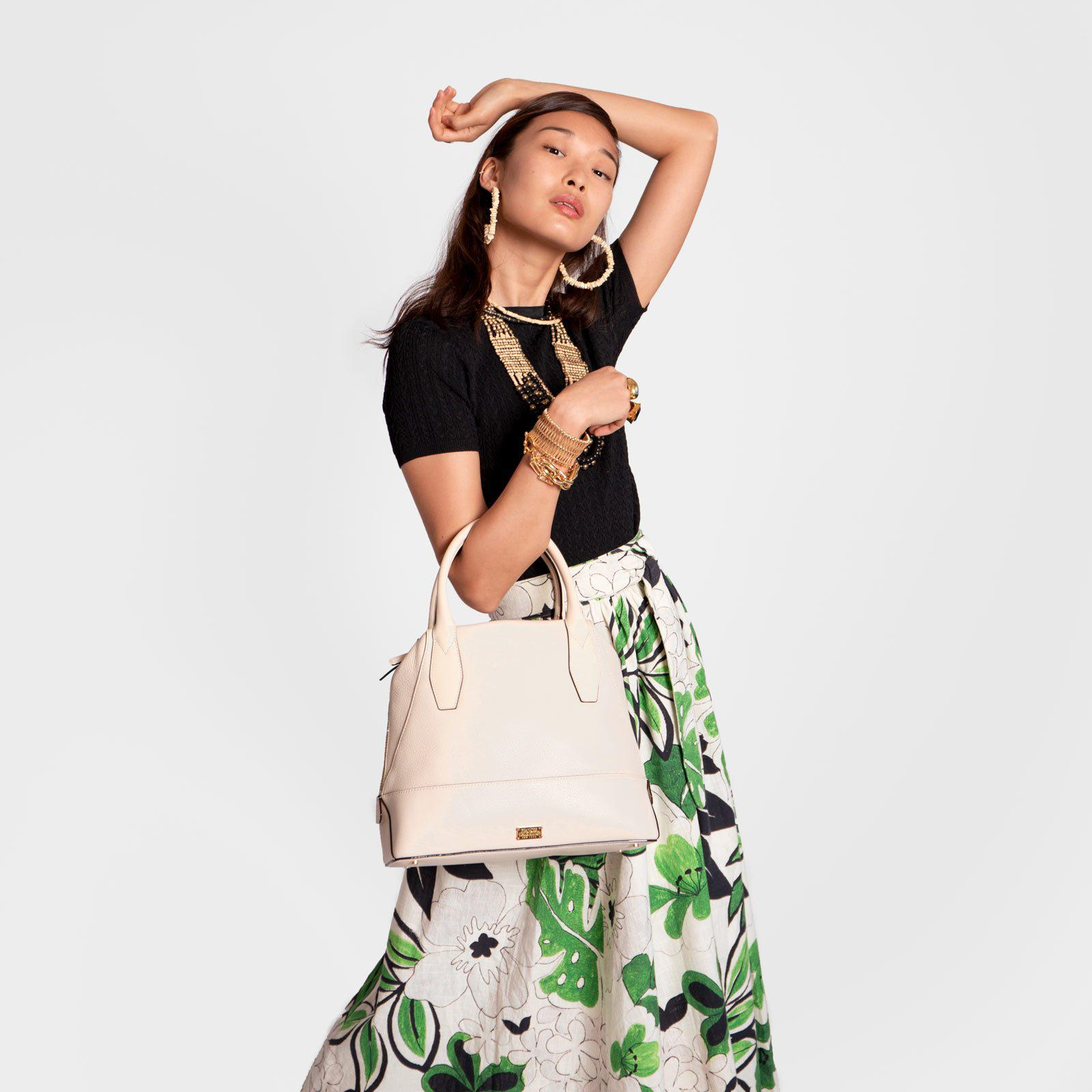 Abby Tote Tumbled Leather Oyster 6