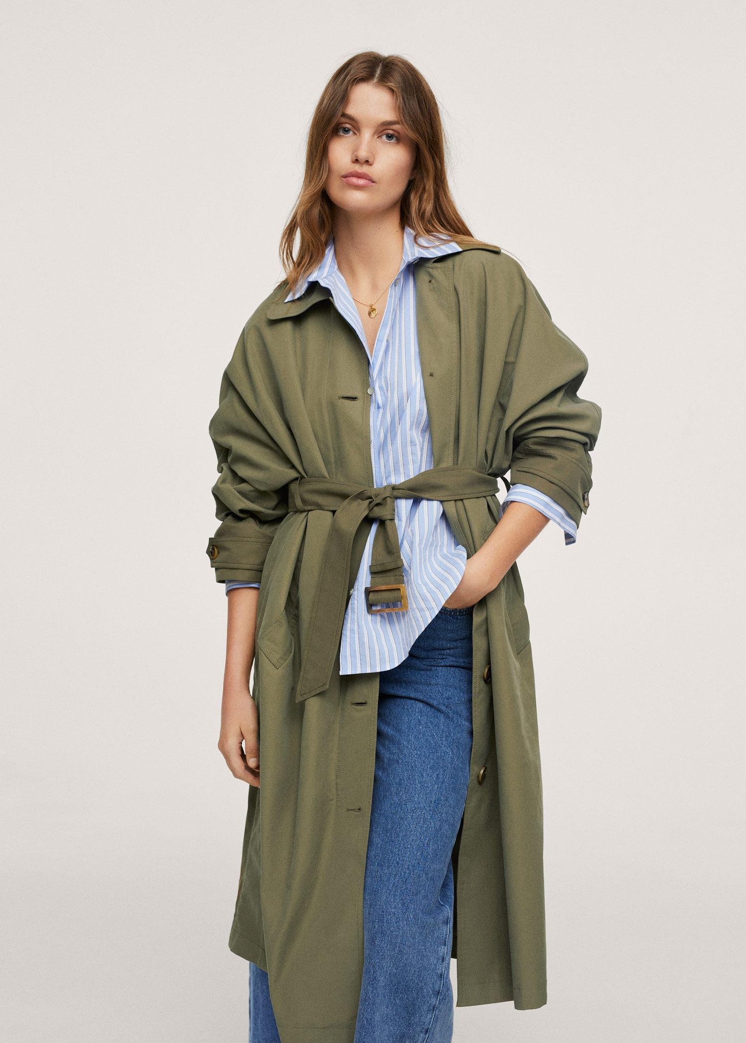 Quilted lining cotton trench coat