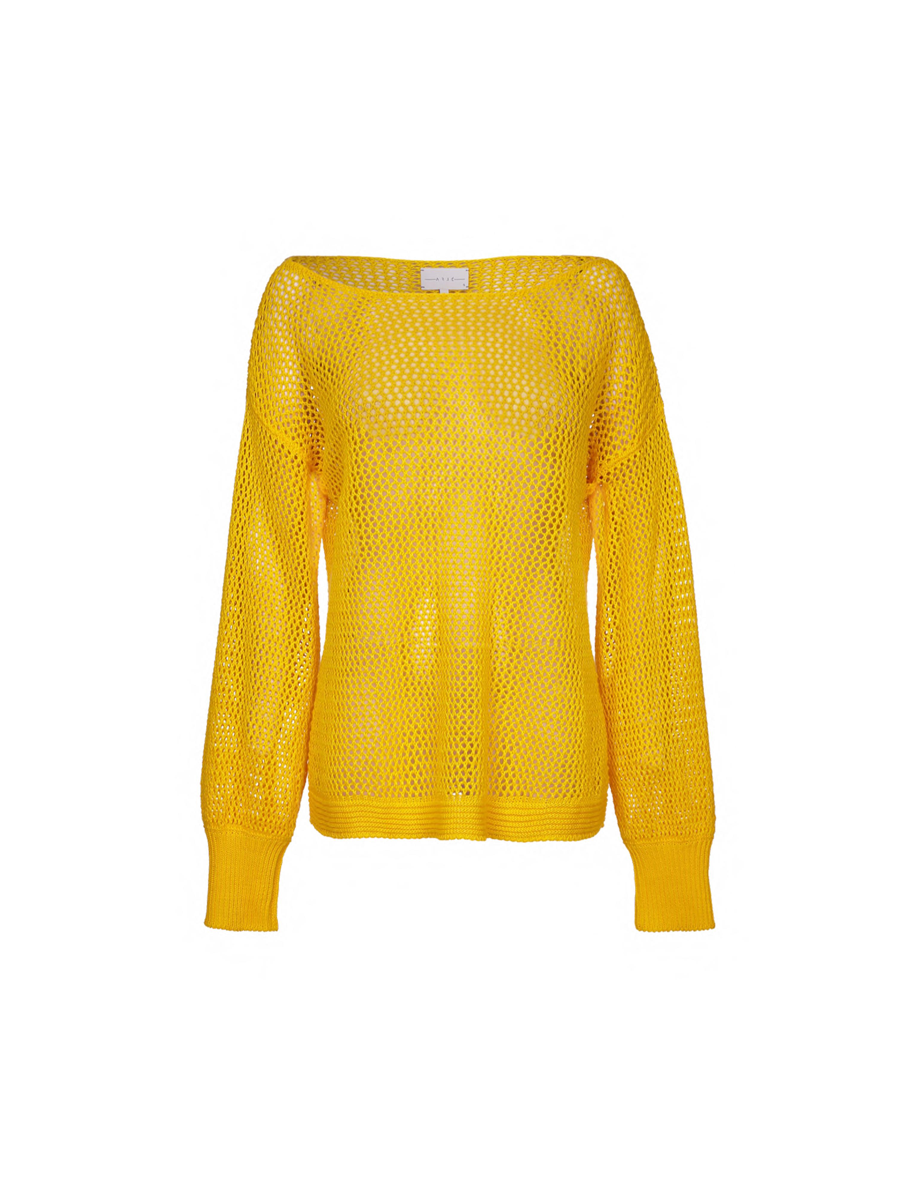 THE CHLOE LINEN BASKET KNIT RELAXED SWEATER
