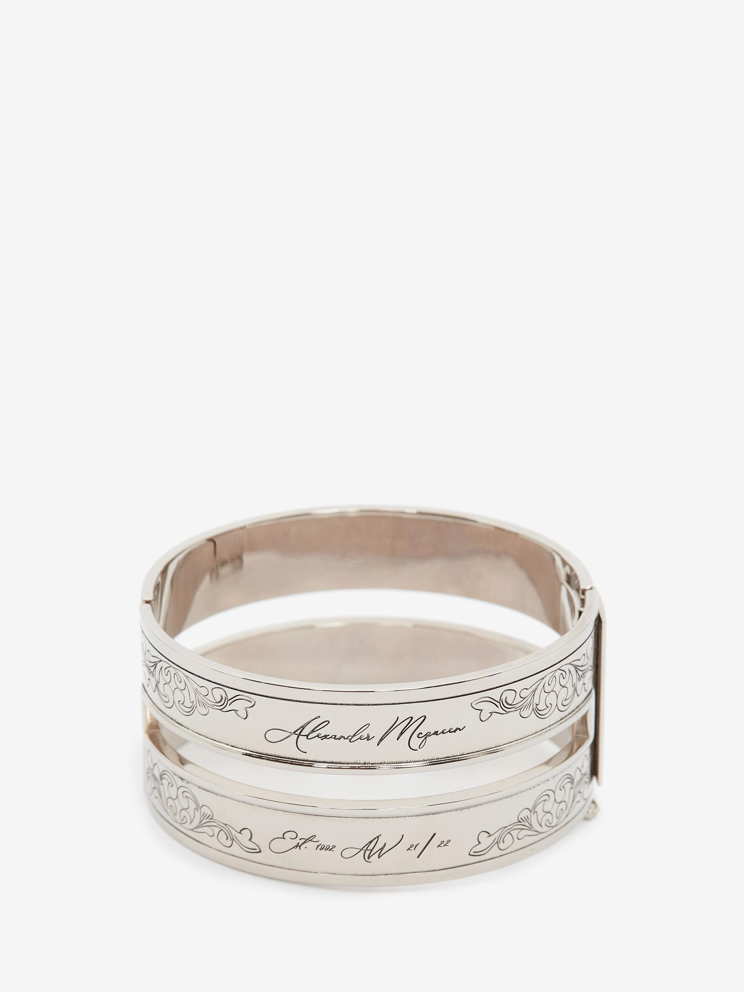 Cut-Out Engraved Cuff