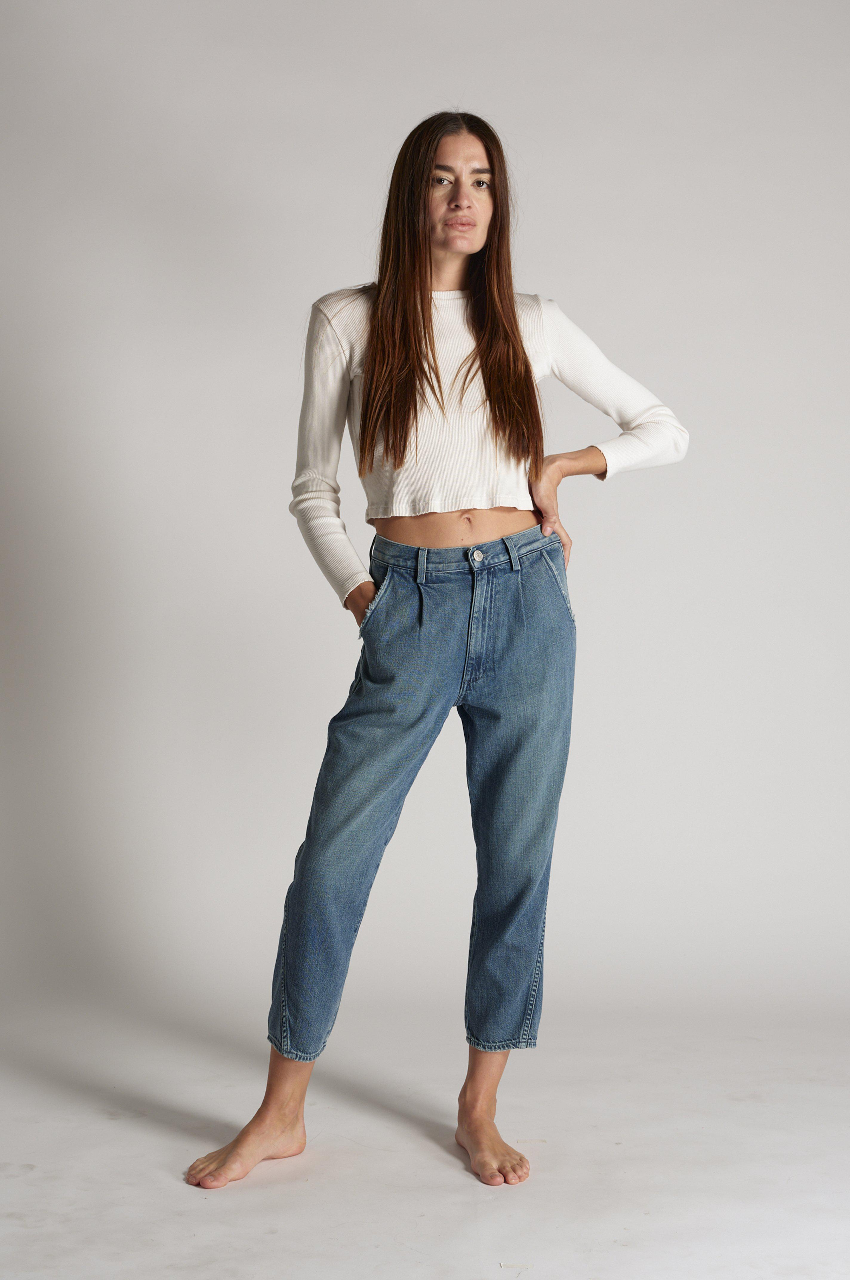 PLEATED SLOUCH TROUSER INDIGO