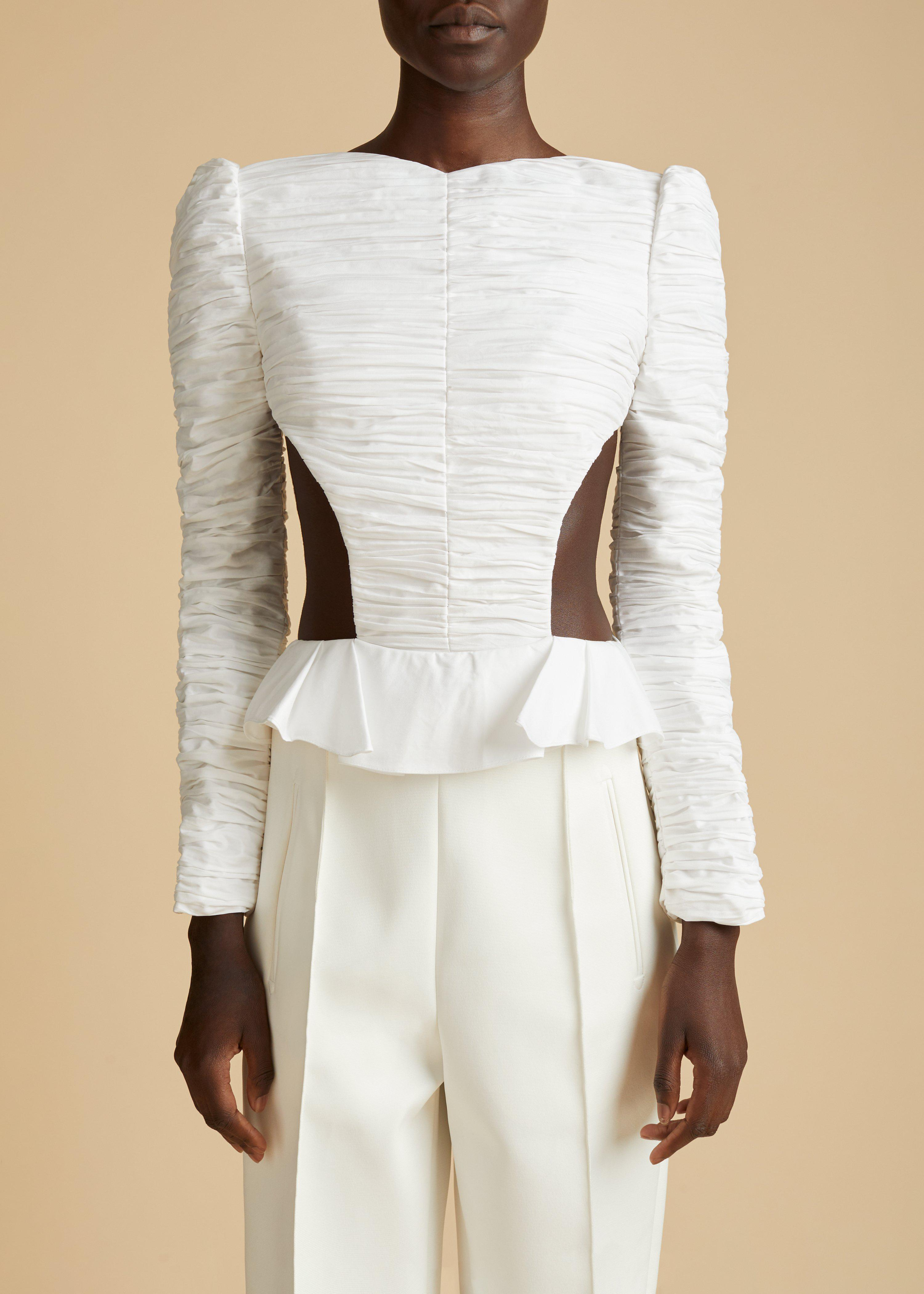 The Rosy Top in White