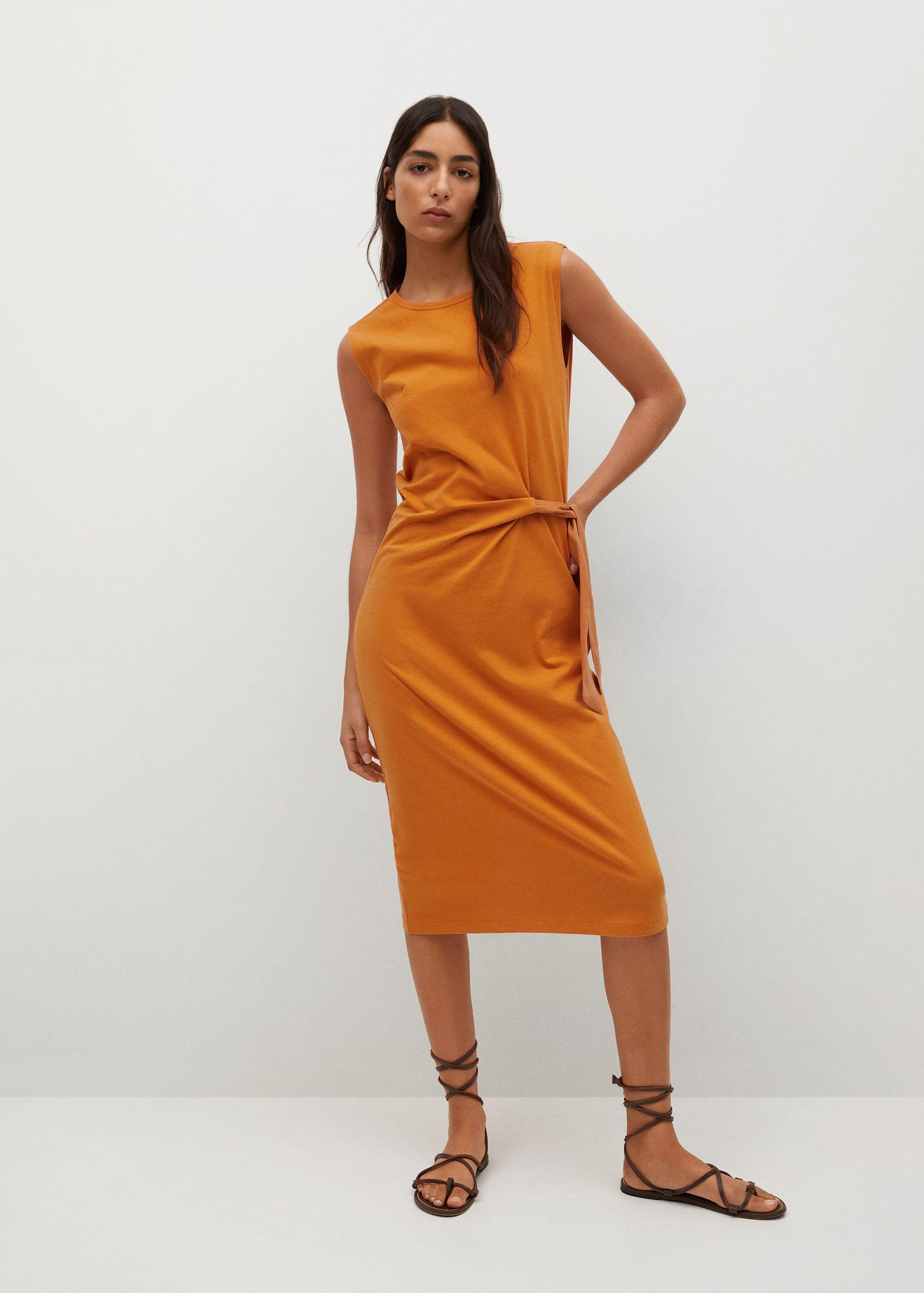 Knotted cotton dress 1