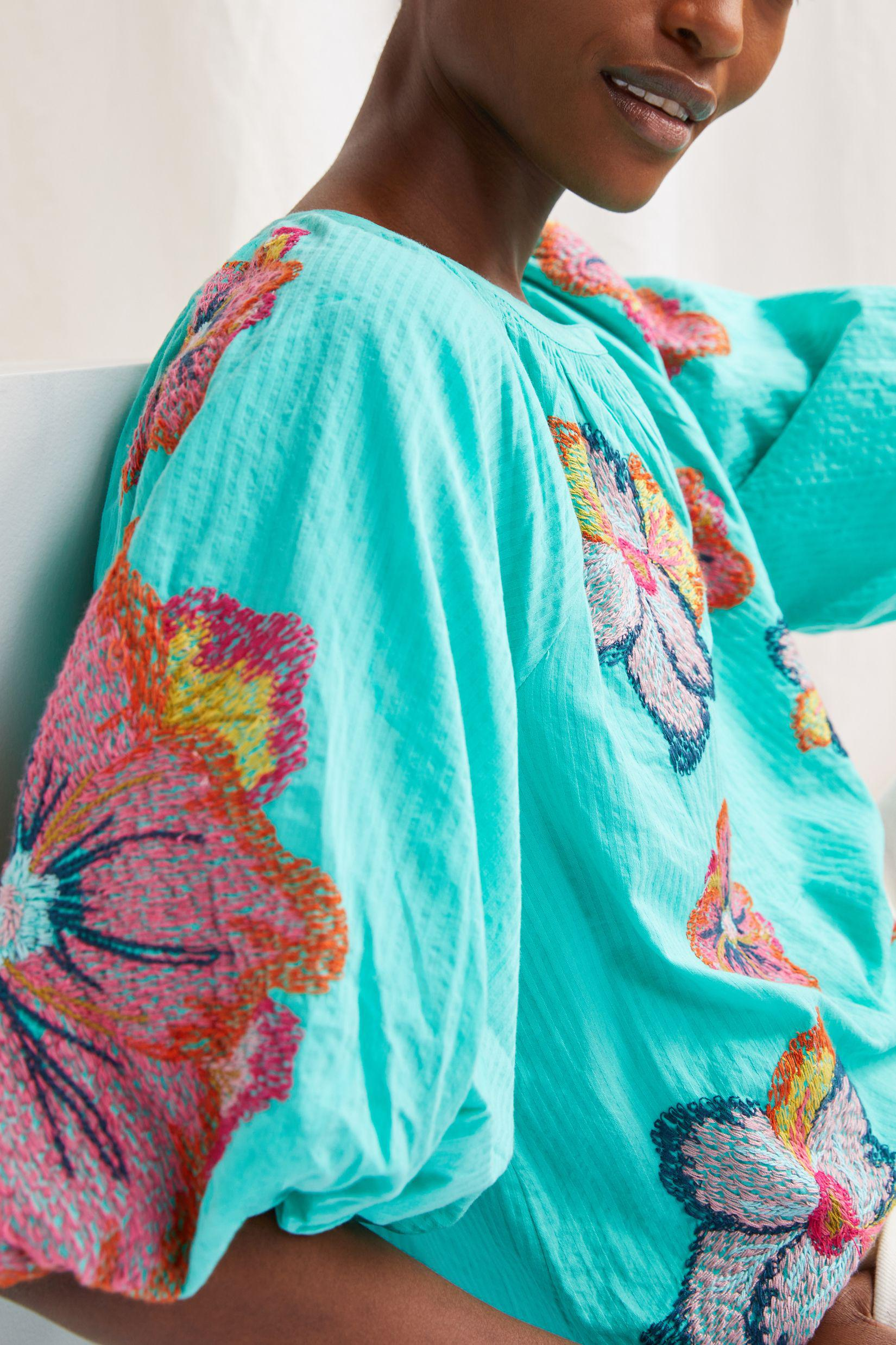 Maeve Embroidered Peasant Blouse 6