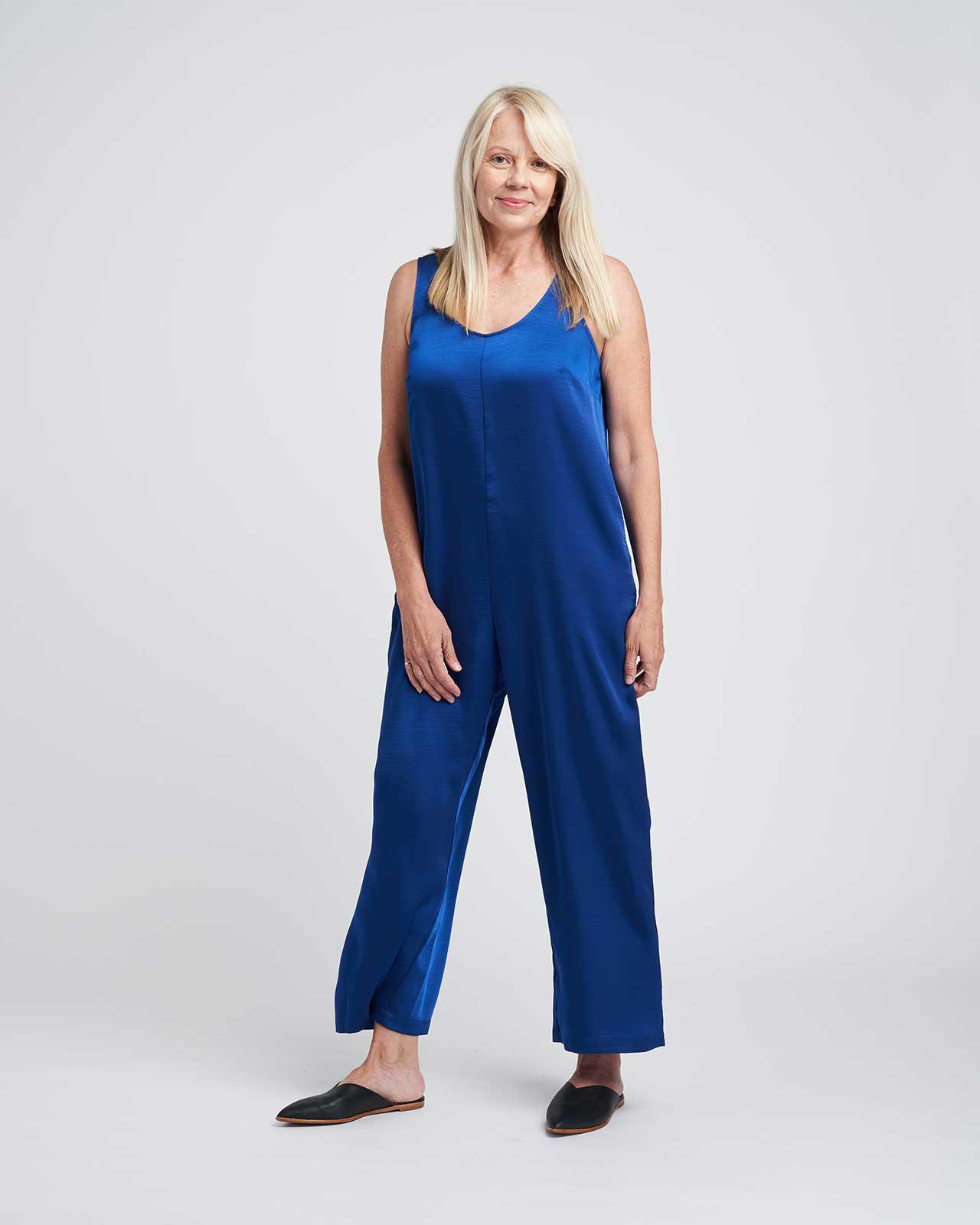 Judy Satin Relaxed Jumpsuit