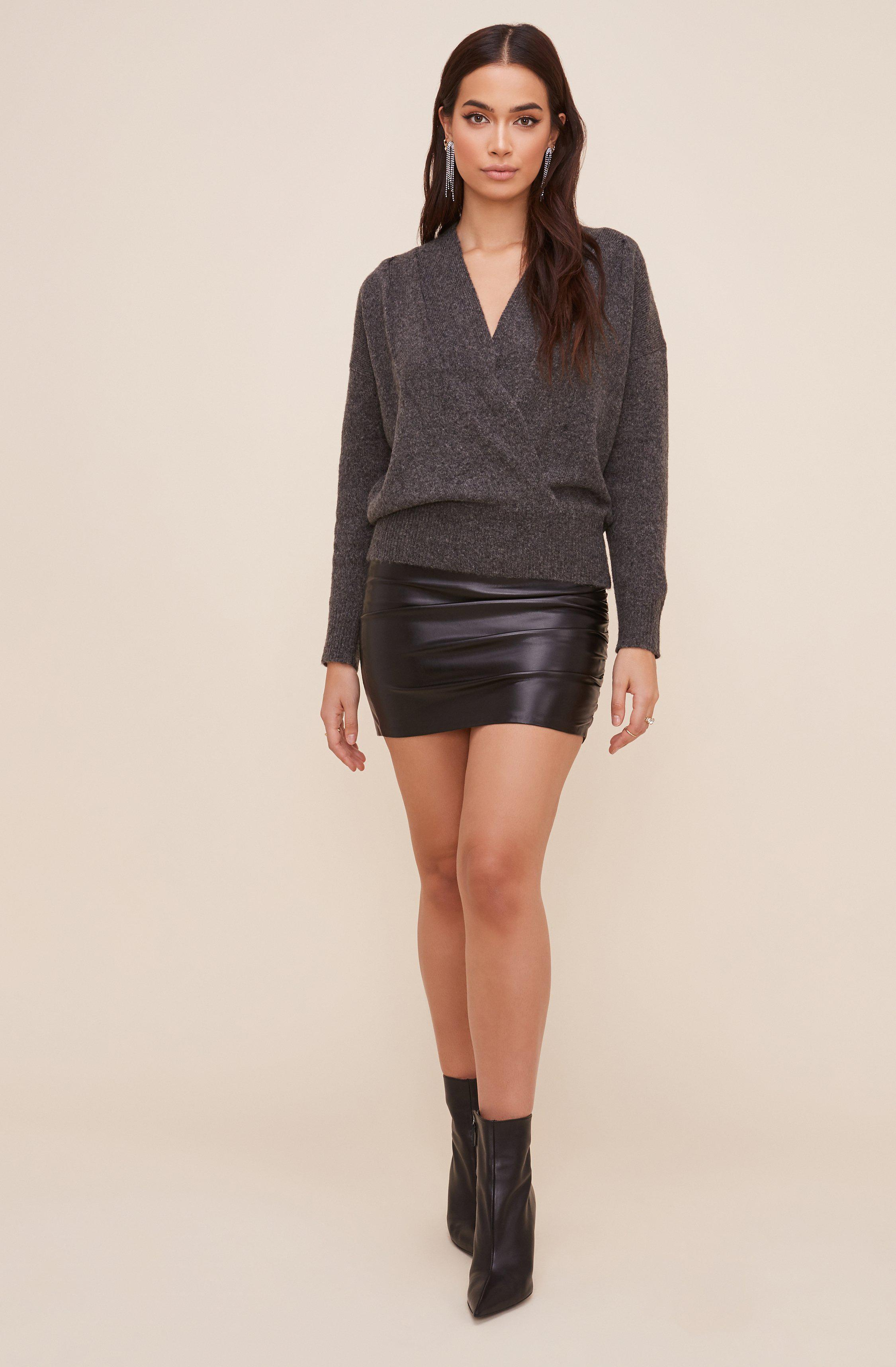 Pleated Wrap Sweater 2