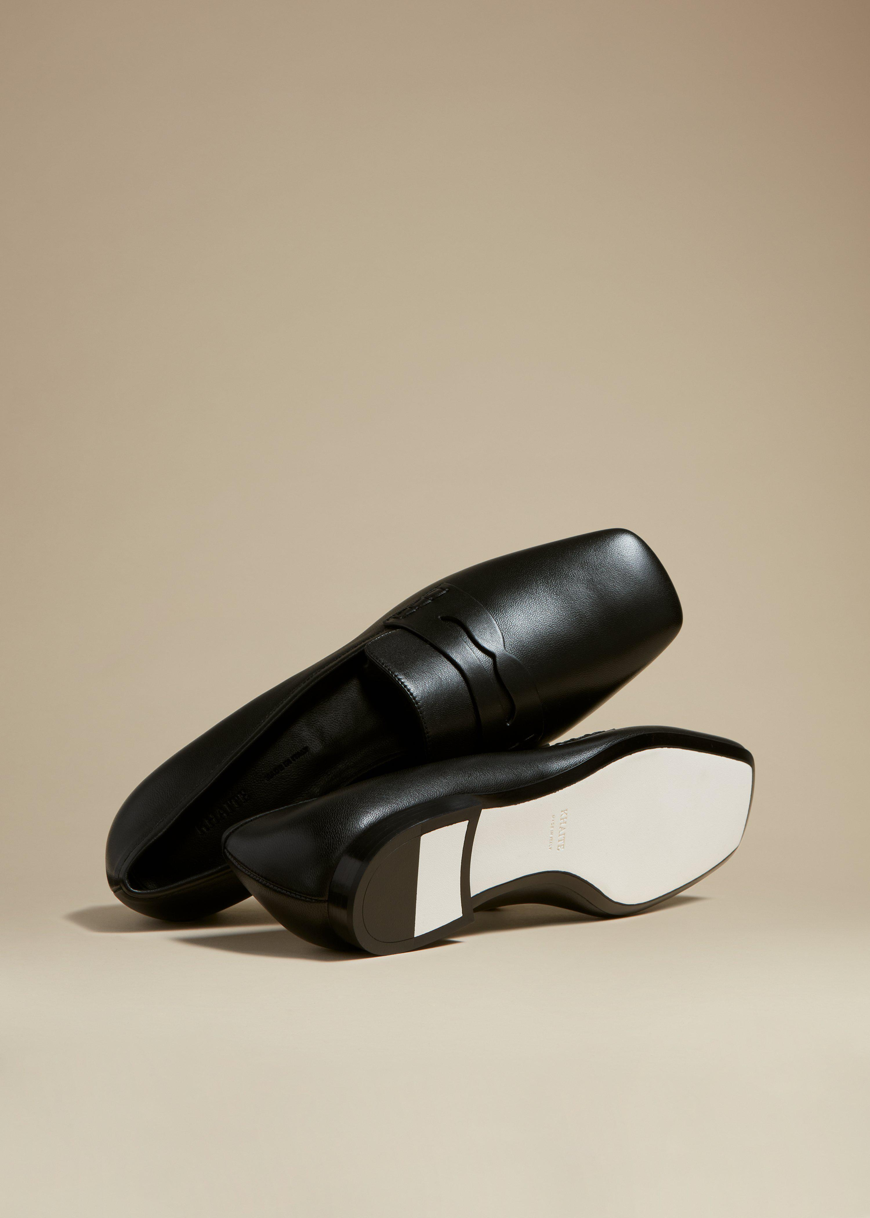 The Carlisle Loafer in Black Leather 3