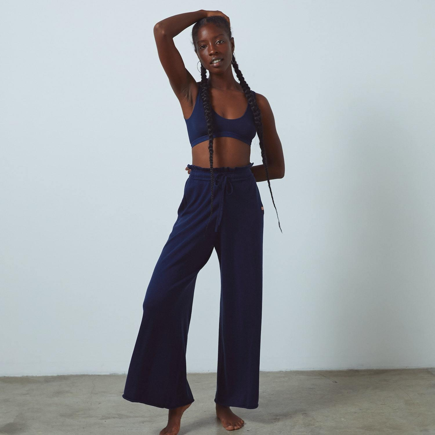 Cozy Cotton Silk Relaxed Pant