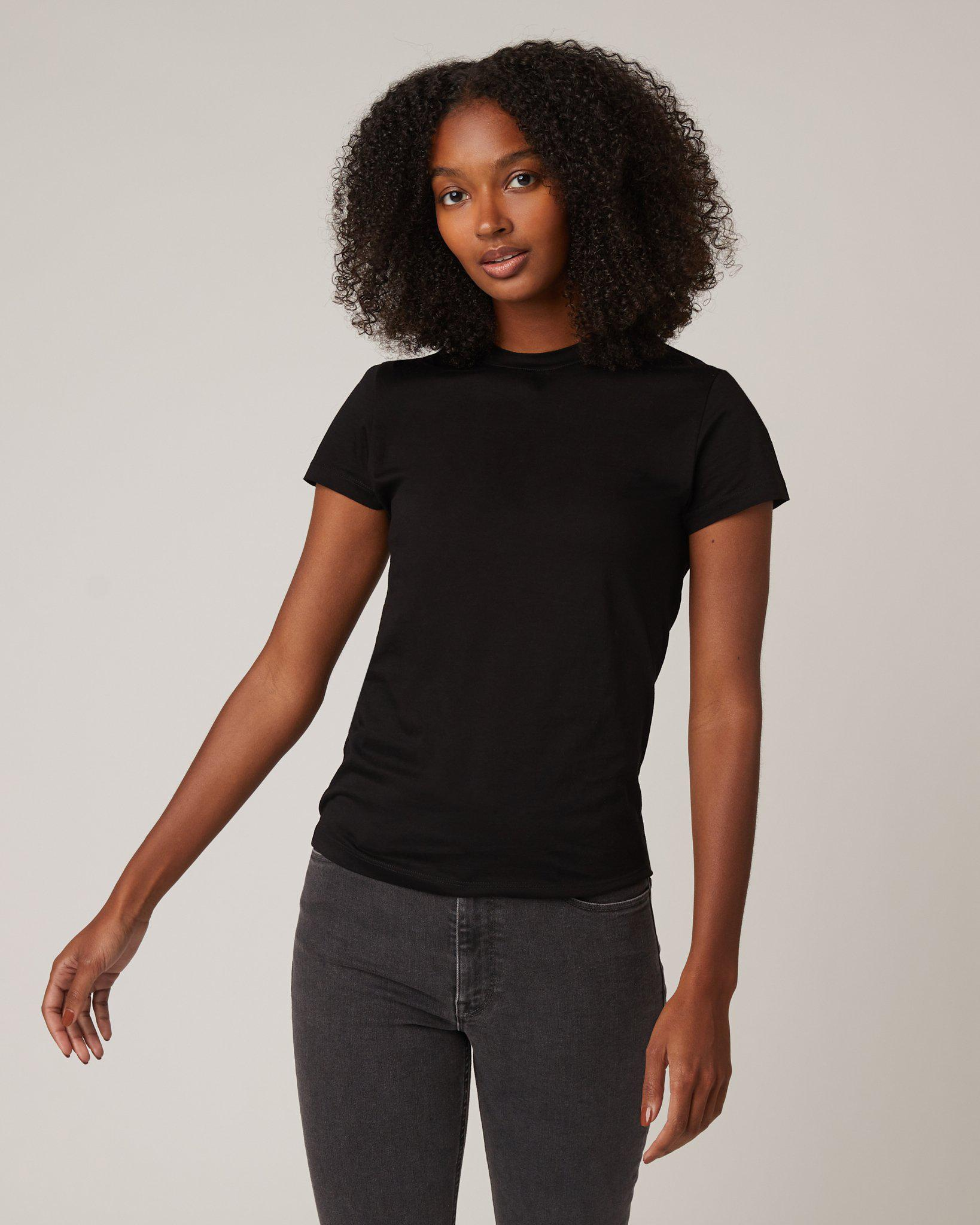 Fitted Tee in Jet Black