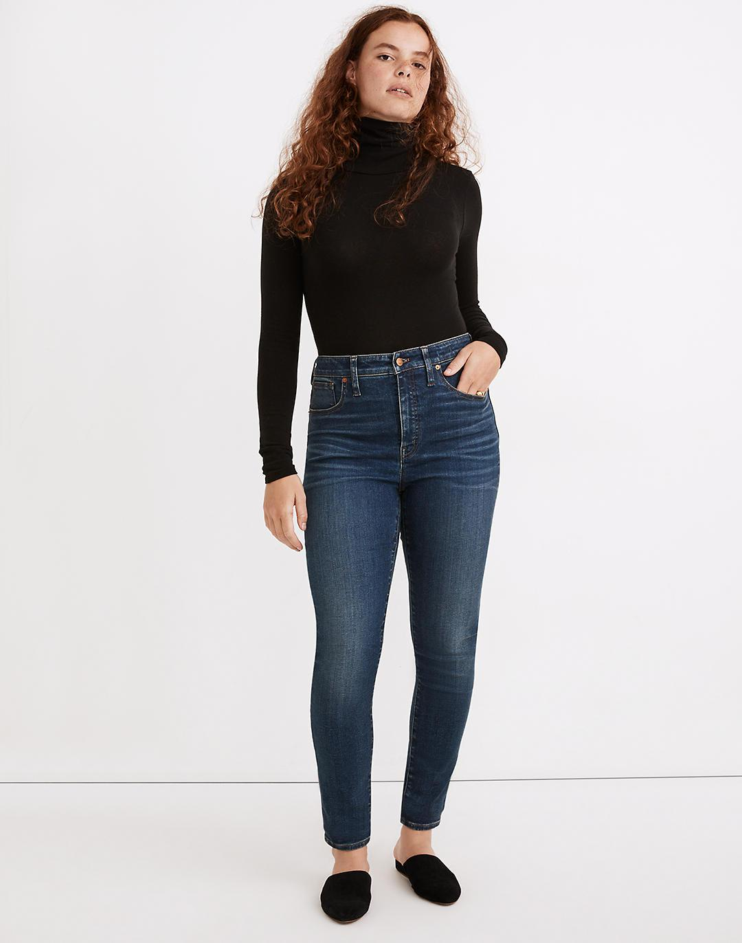 Petite Curvy High-Rise Skinny Jeans in Lanette Wash