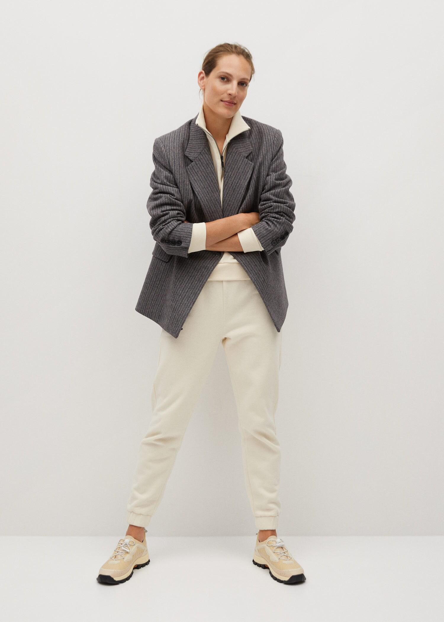 Cotton jogger-style trousers 1