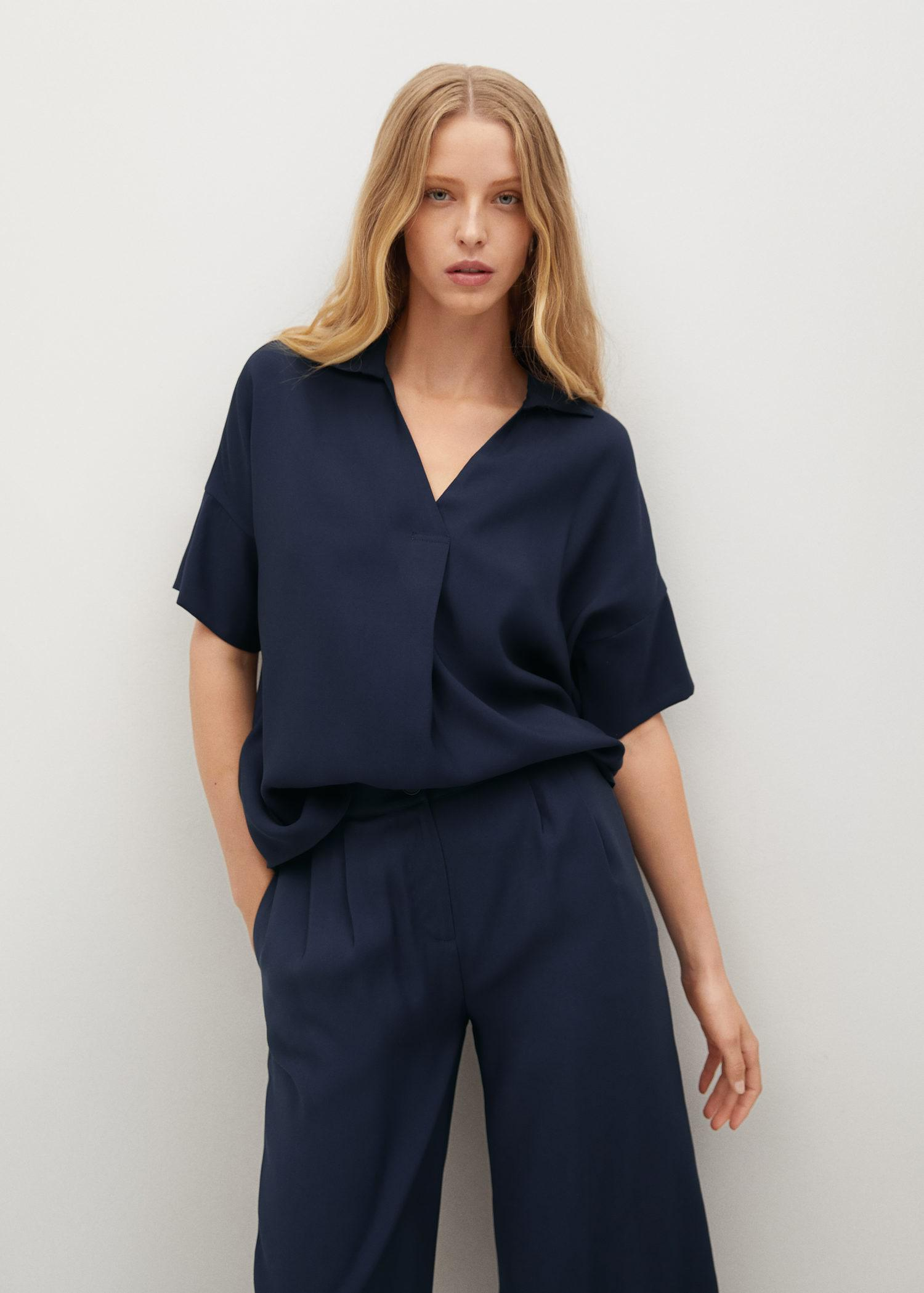 Oversized flowing blouse