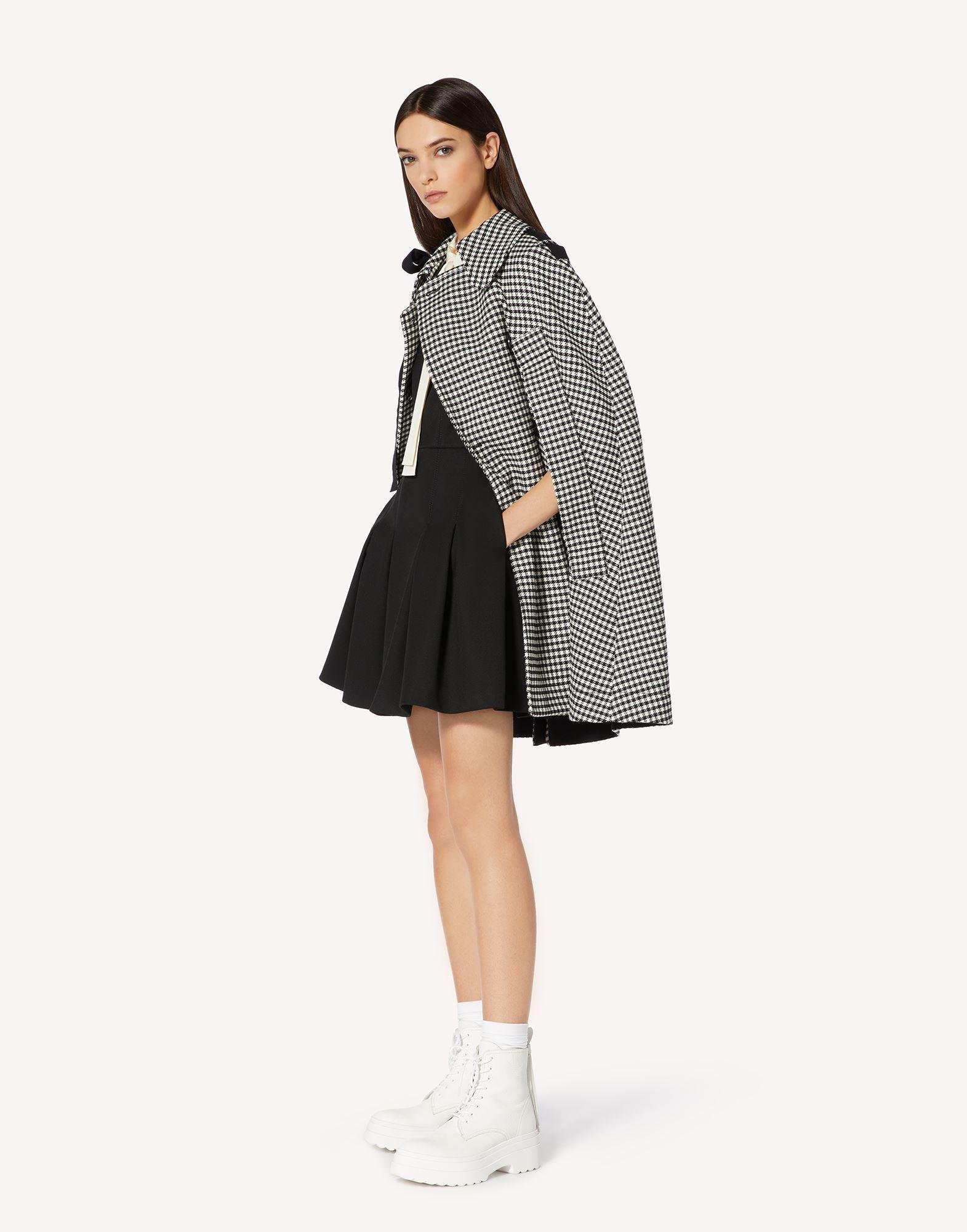 VICHY MOTIF CAPE WITH BOW DETAIL 2