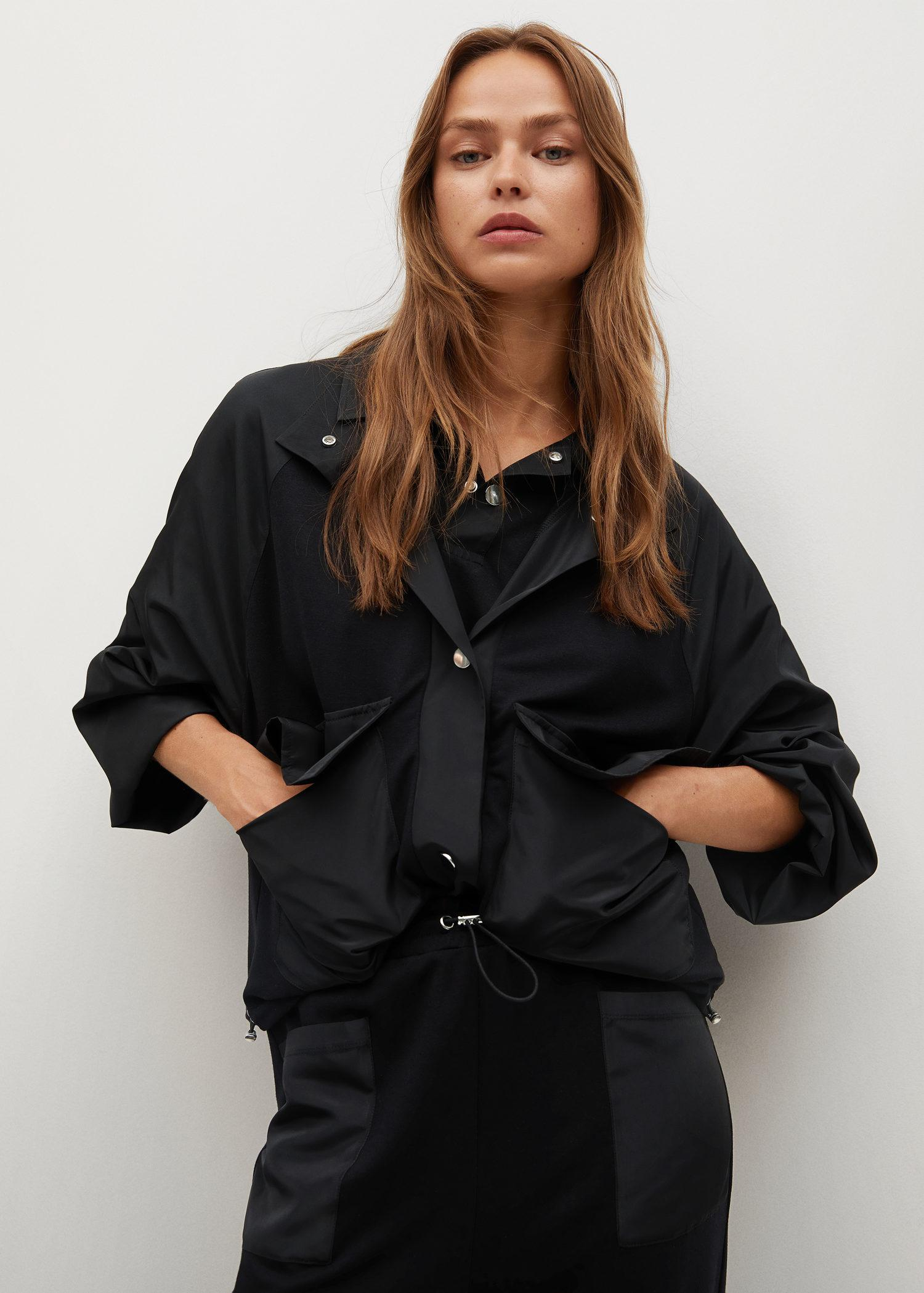 Contrasting fabric jacket
