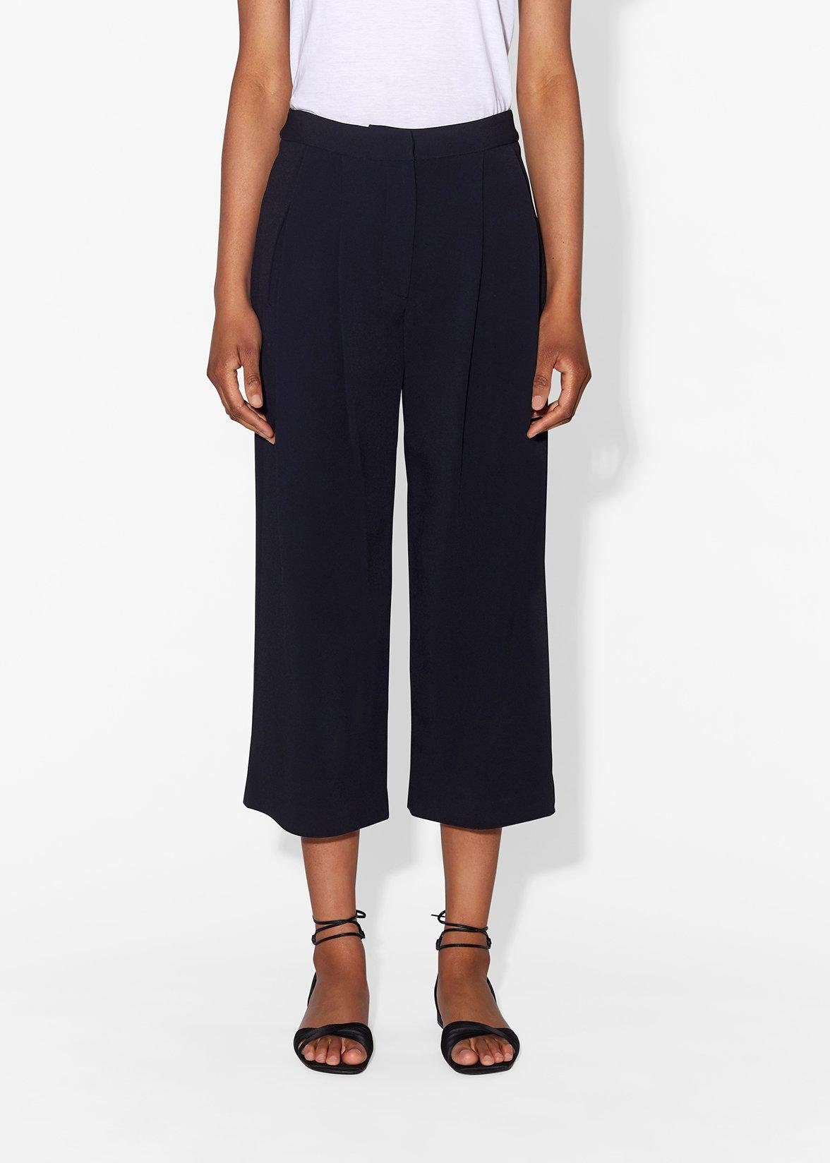PLEAT FRONT CULOTTE IN STRETCH CADY 2