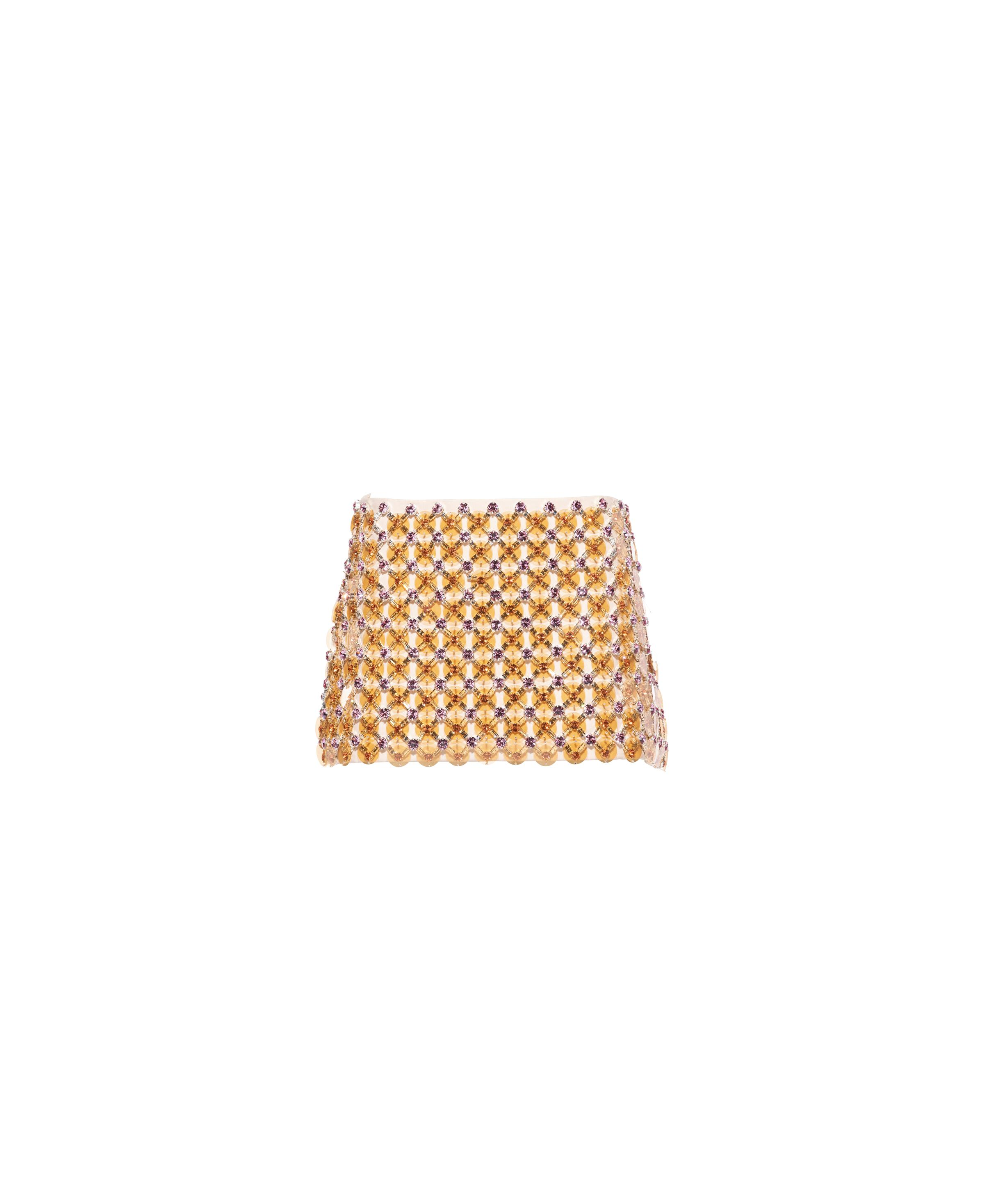 Embroidered Cady Skirt Women Apricot