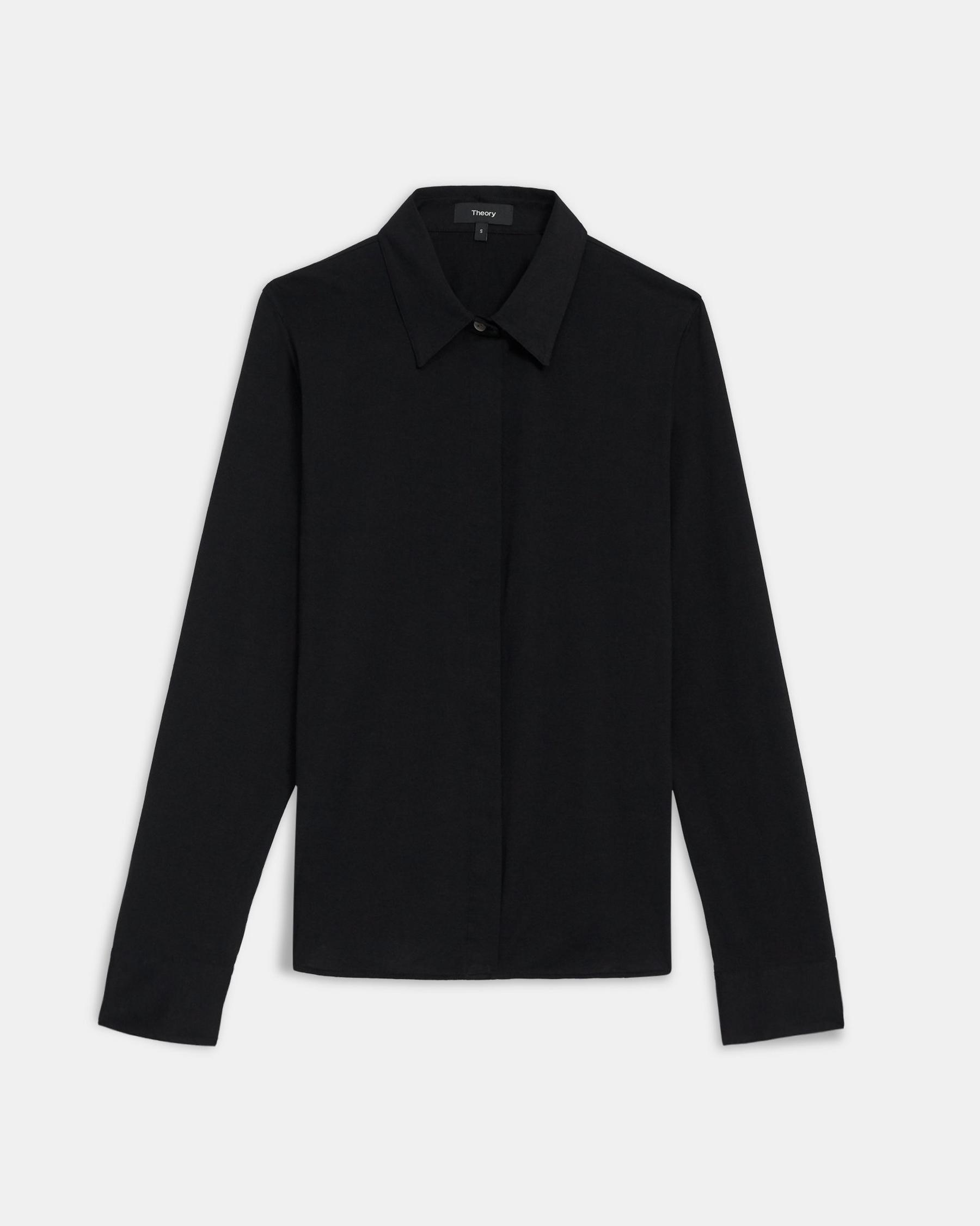 Fitted Shirt in Cotton Jersey 4