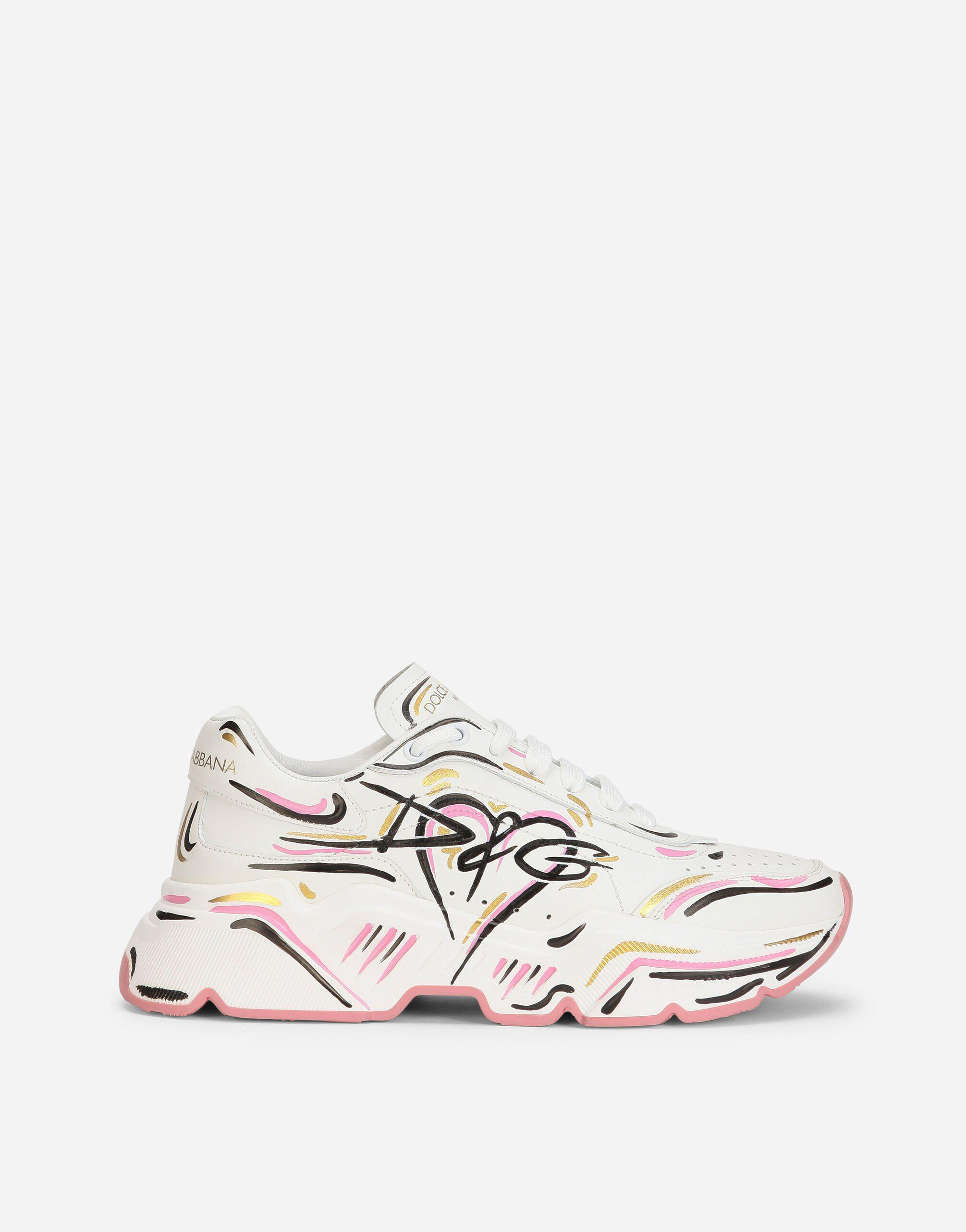 Hand-painted calfskin nappa Daymaster sneakers