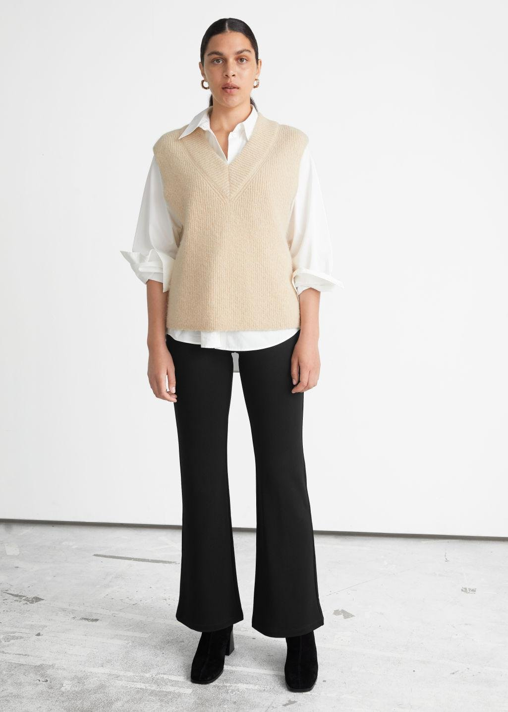 Straight Viscose Trousers