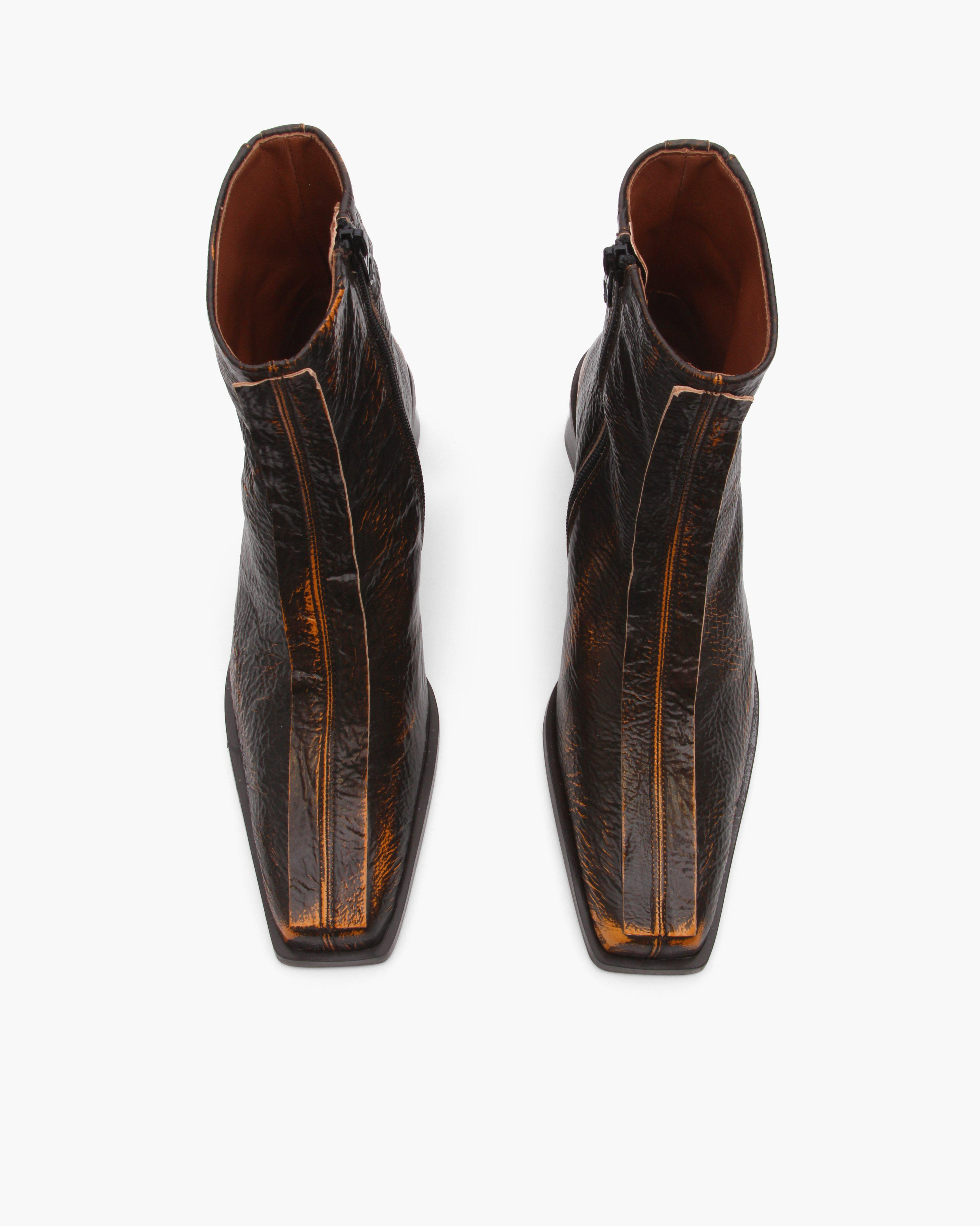 Miki Boots Leather Two-Tone Brown 3