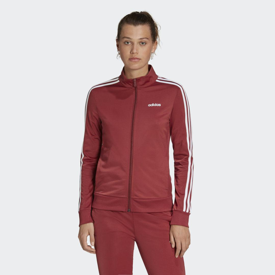 Essentials Tricot Track Jacket Legacy Red