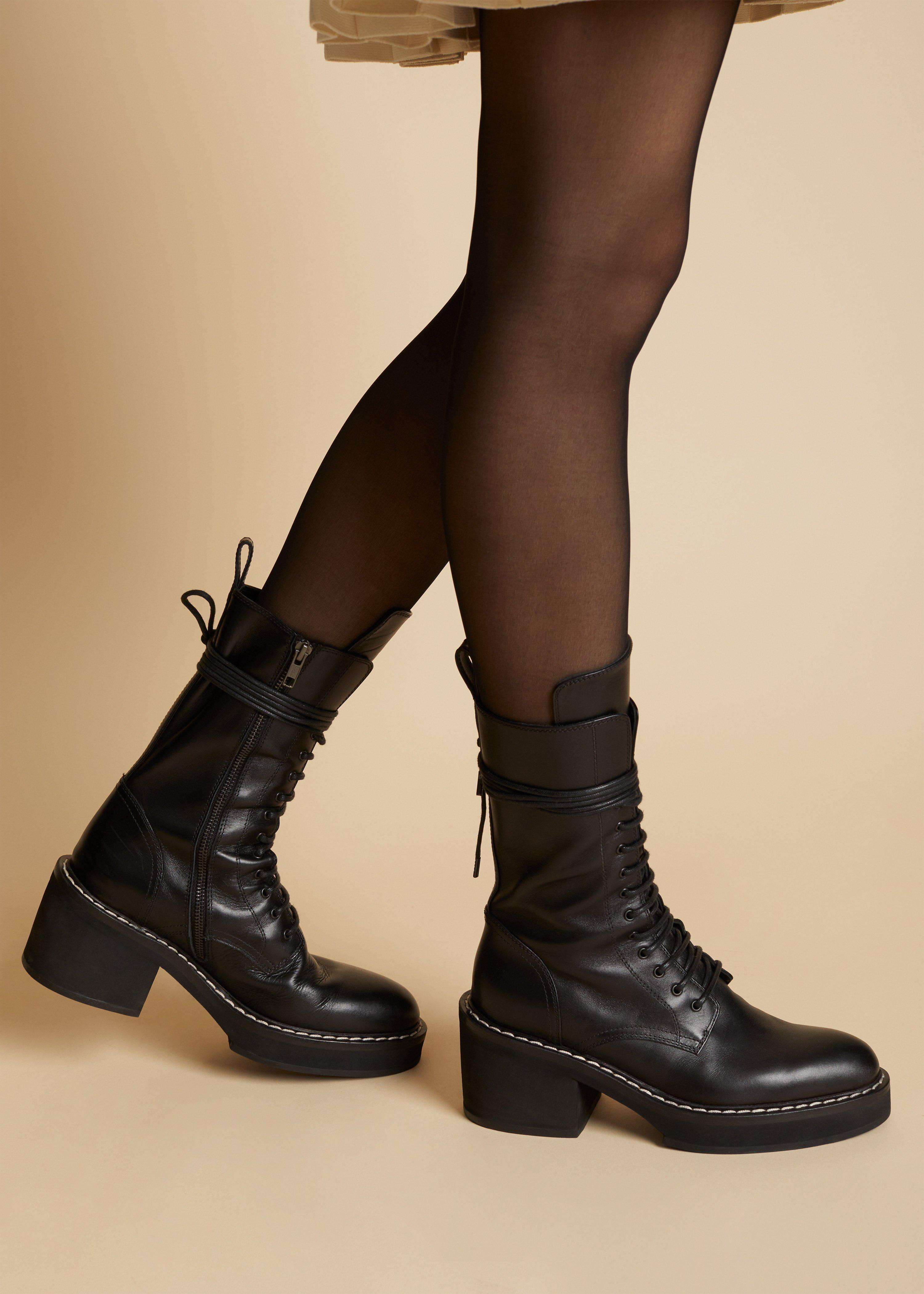 The Cody Boot in Black Leather 5