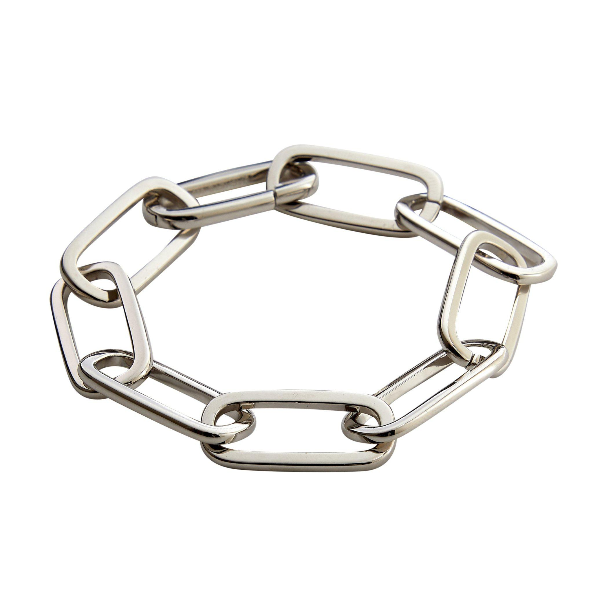 Grande Solid Sterling Paperclip Chain Bracelet in Silver