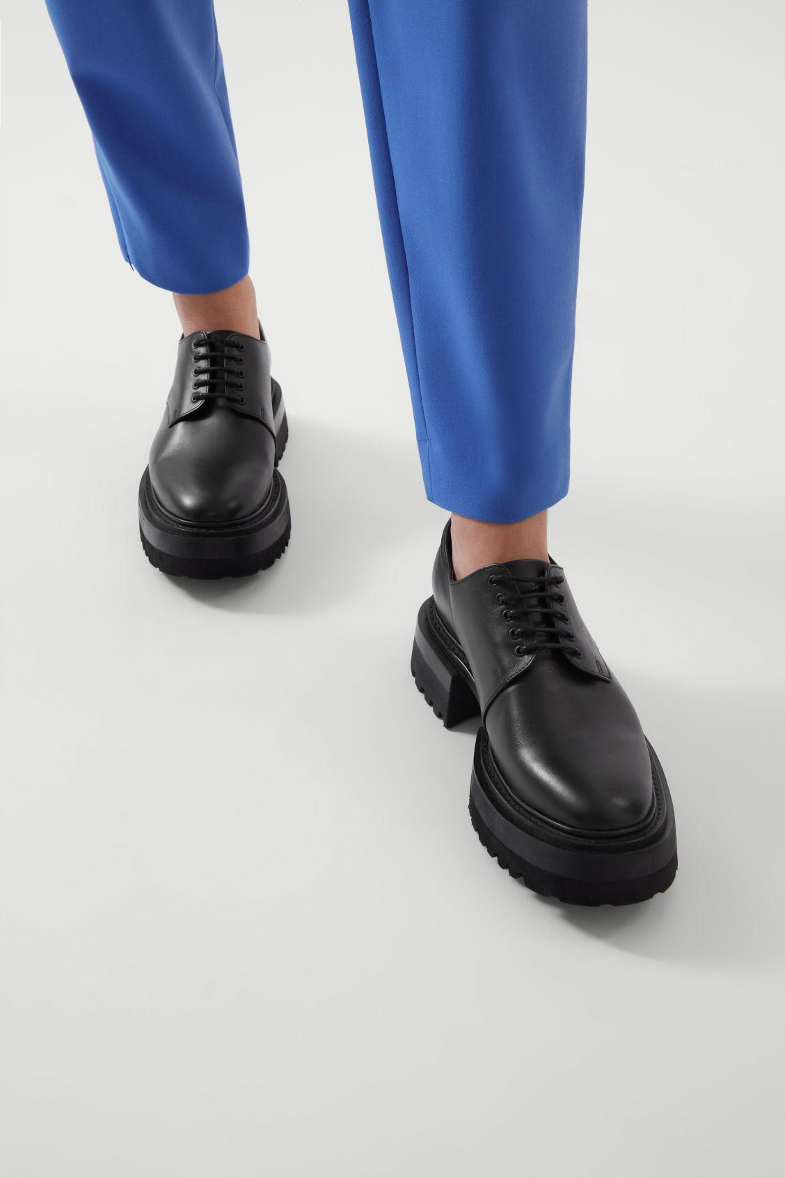 CHUNKY DERBY SHOES 8