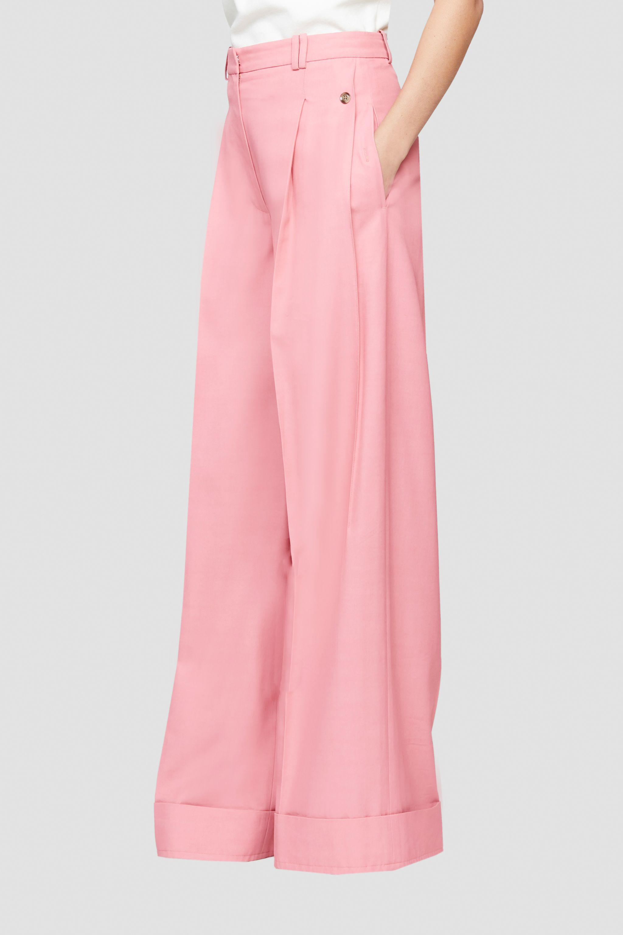 Flou pressed-crease palazzo trousers 2