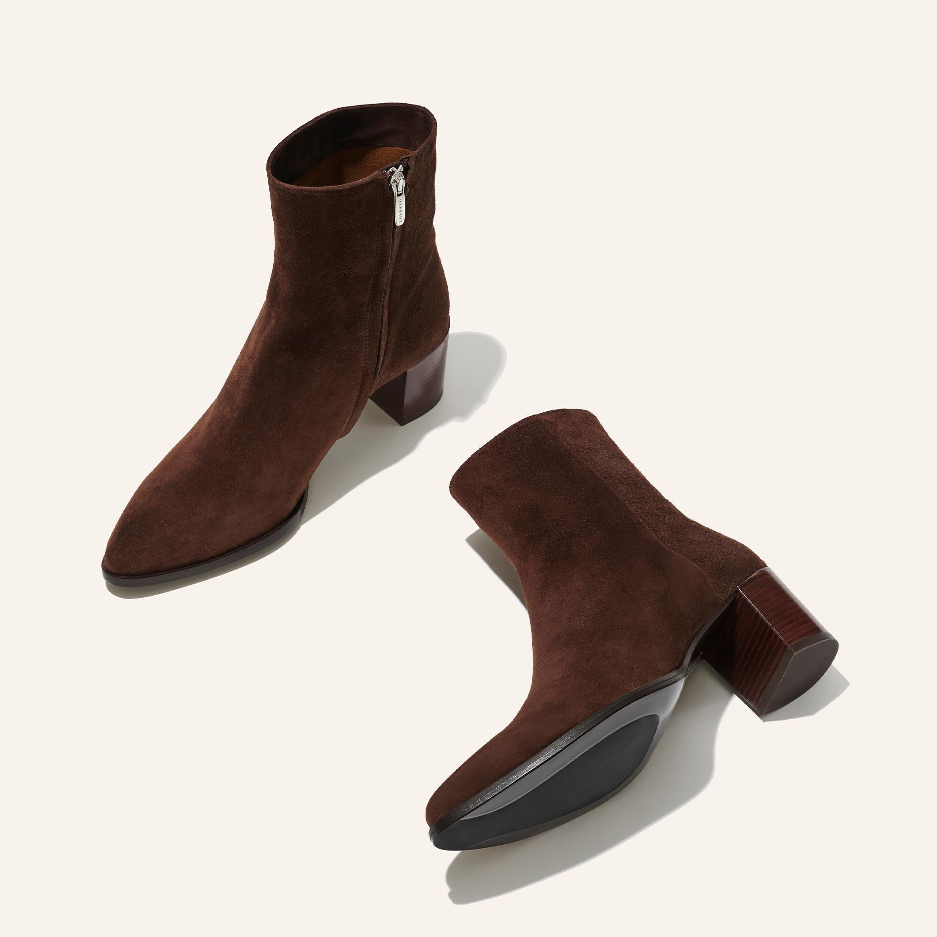 The Downtown Boot - Chocolate Suede 2