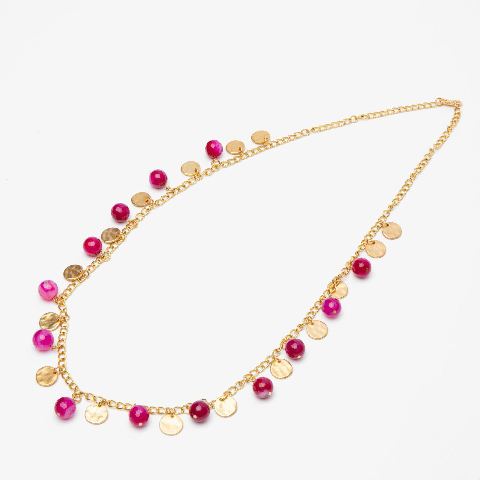 Cherry Agate Shilling Necklace