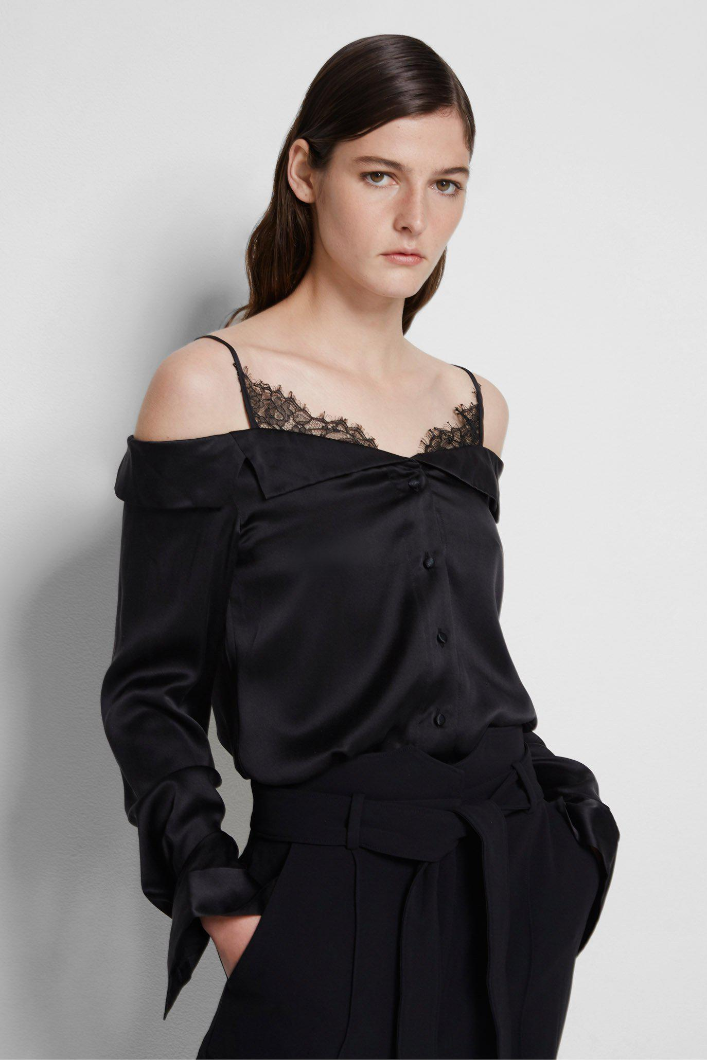 Caylee Silk Lace Top