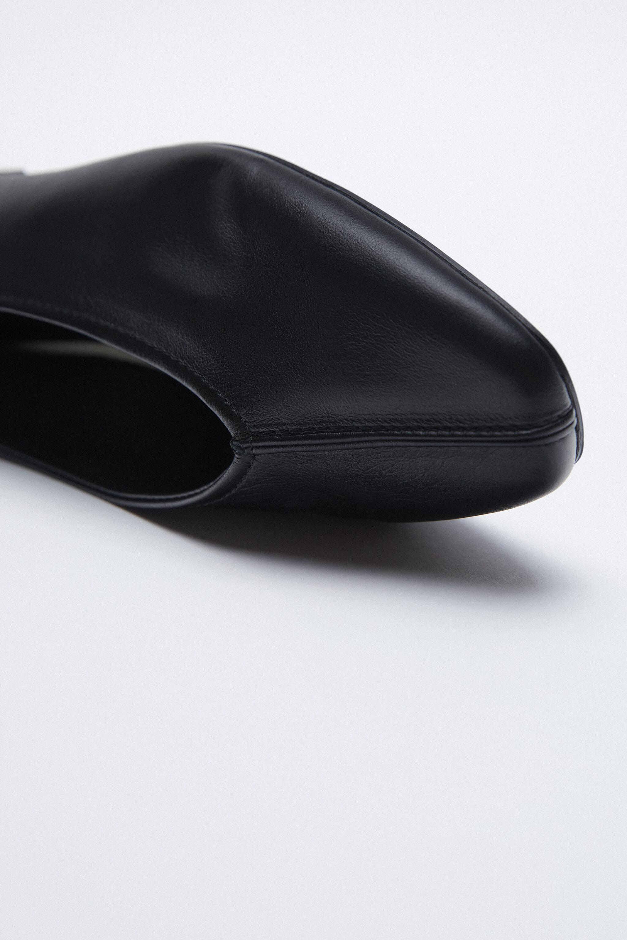 LEATHER BALLET FLATS 5