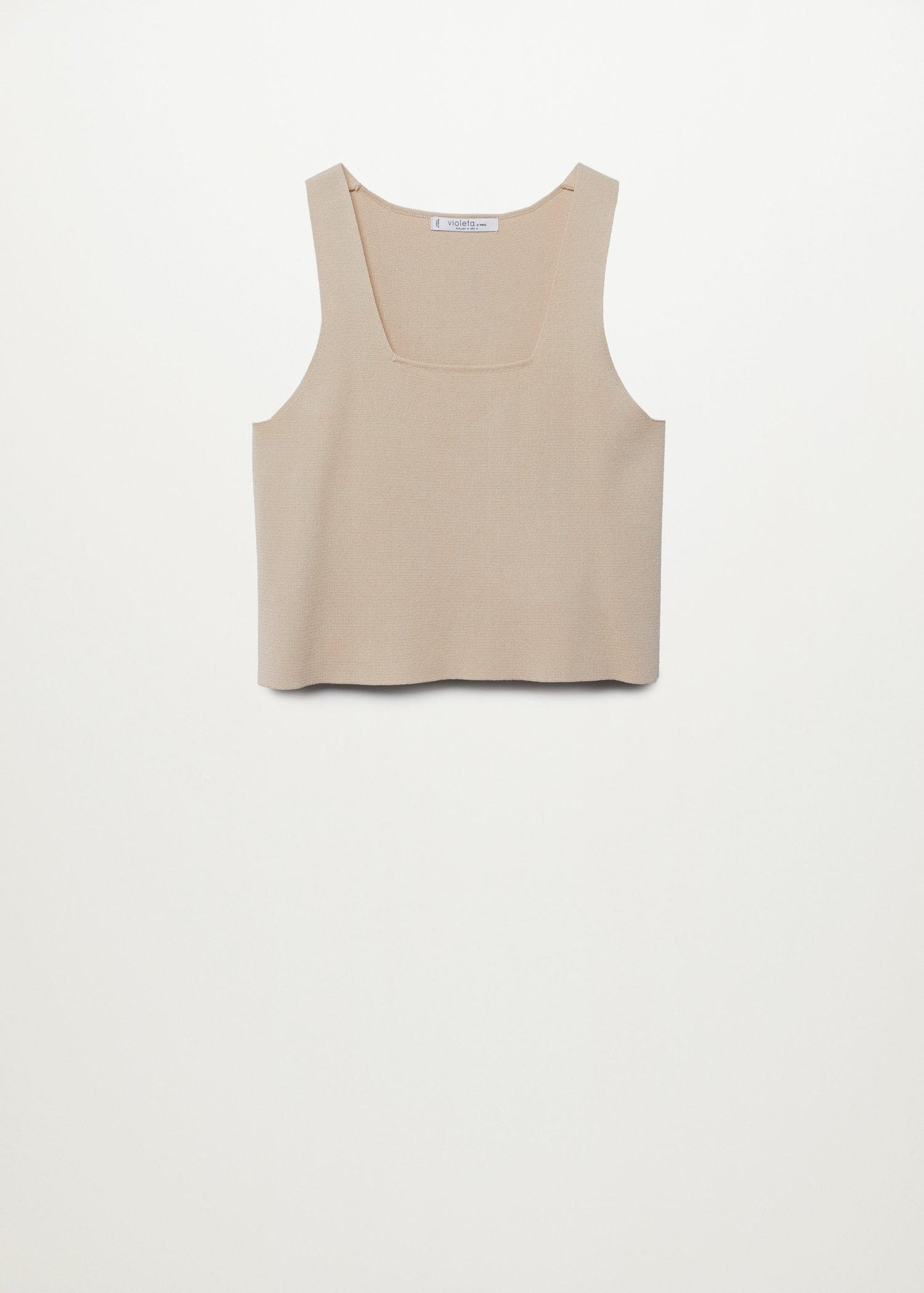 Knitted top with wide straps 7