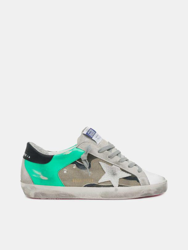 Super-Star sneakers with camouflage print and white suede star