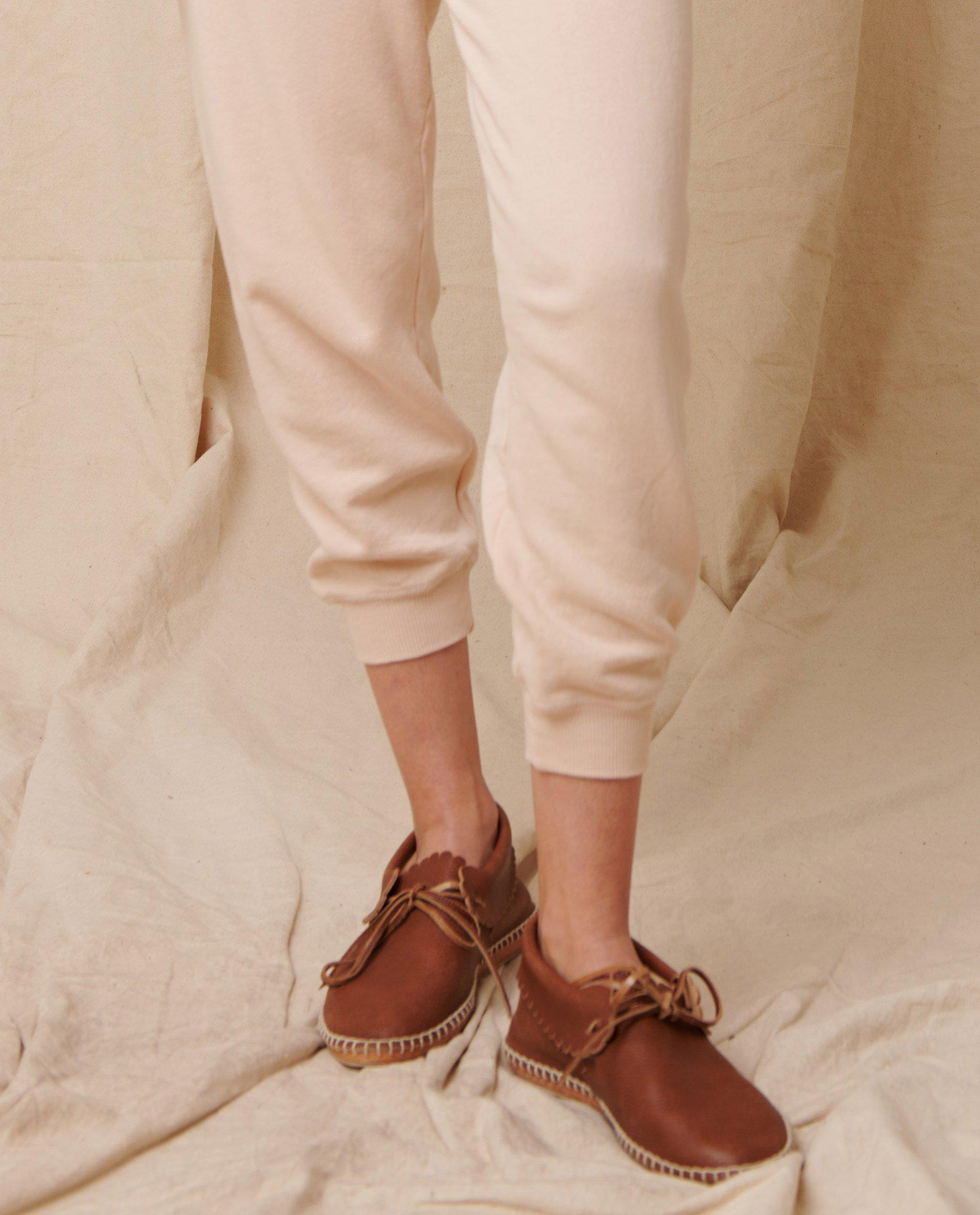 The Cropped Sweatpant. Solid -- Whisper Pink 2