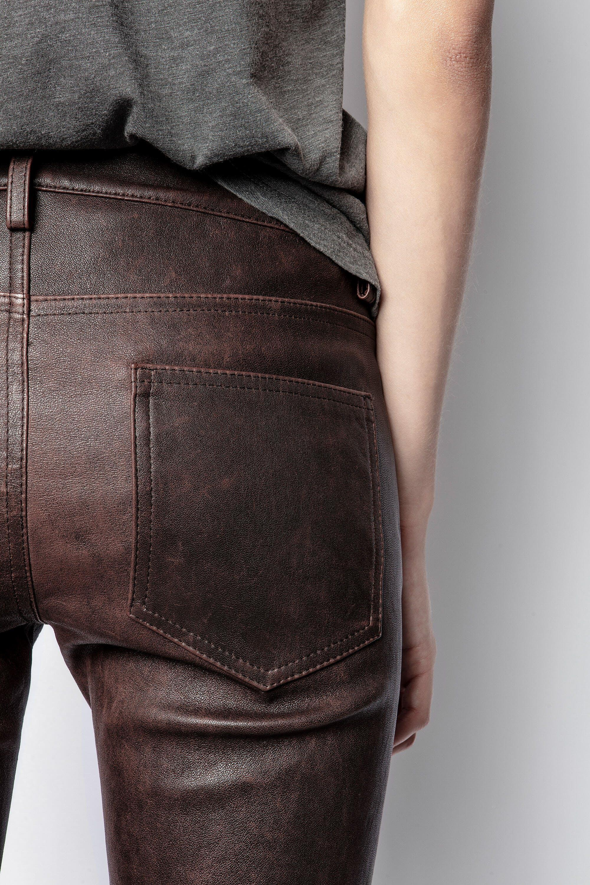 Phlame Leather Used Pants 4