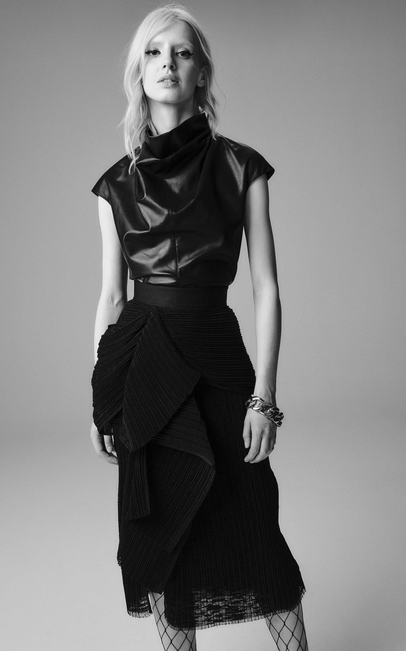 Cybil Leather Top