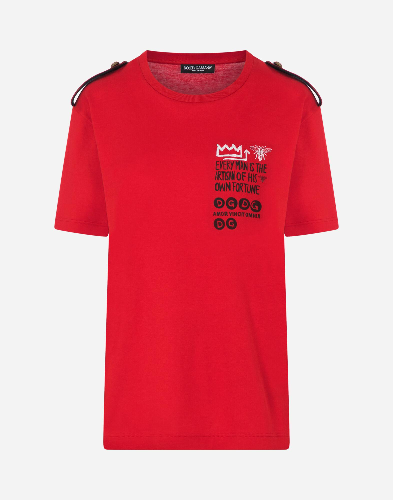 Jersey t-shirt with epaulettes 5
